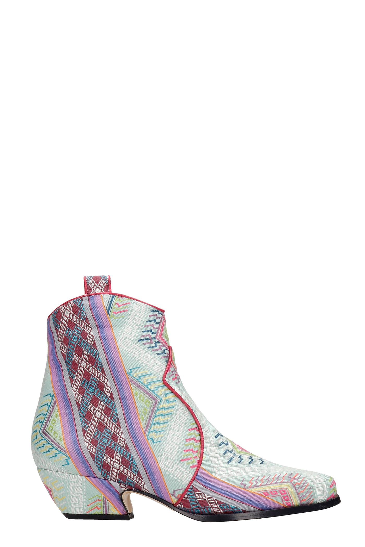 Texan Ankle Boots In Multicolor Fabric