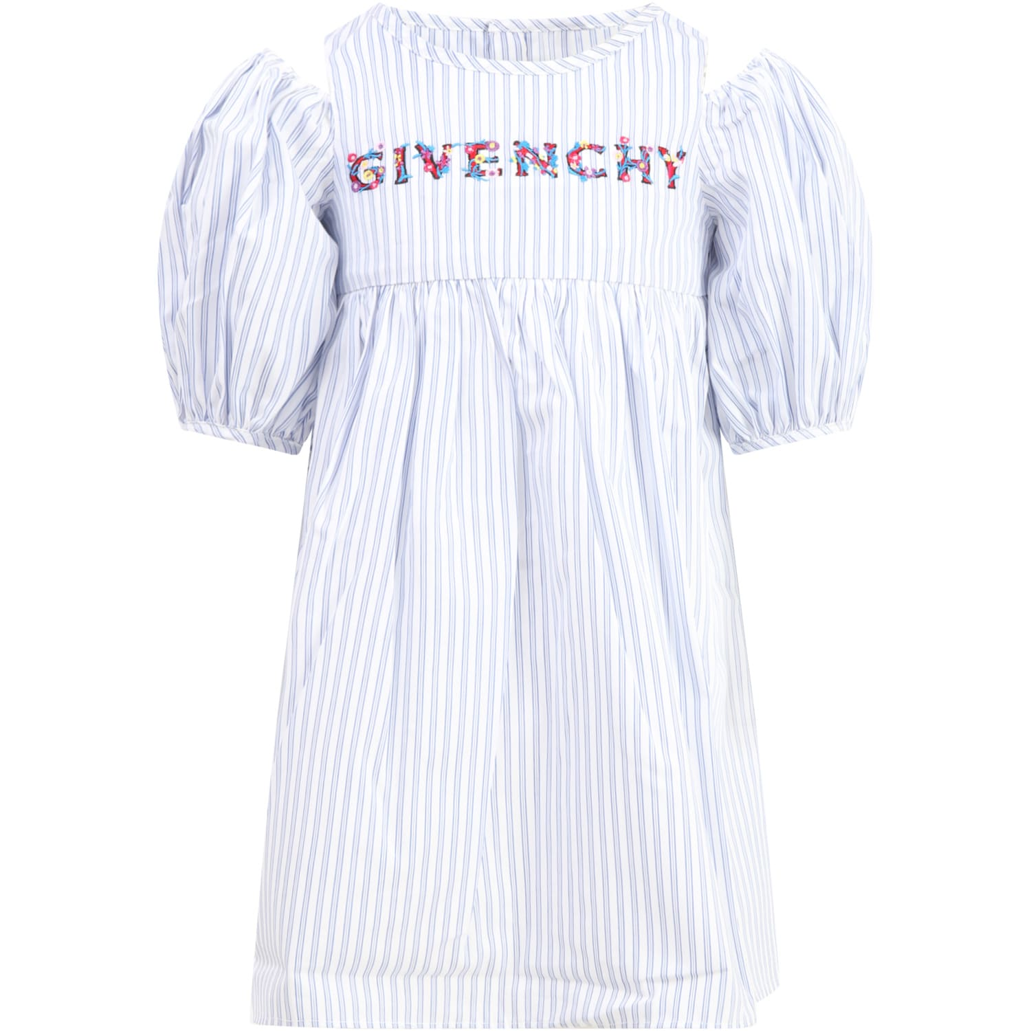 Givenchy MULTICOLOR DRESS FOR GIRL WITH COLORFUL LOGO