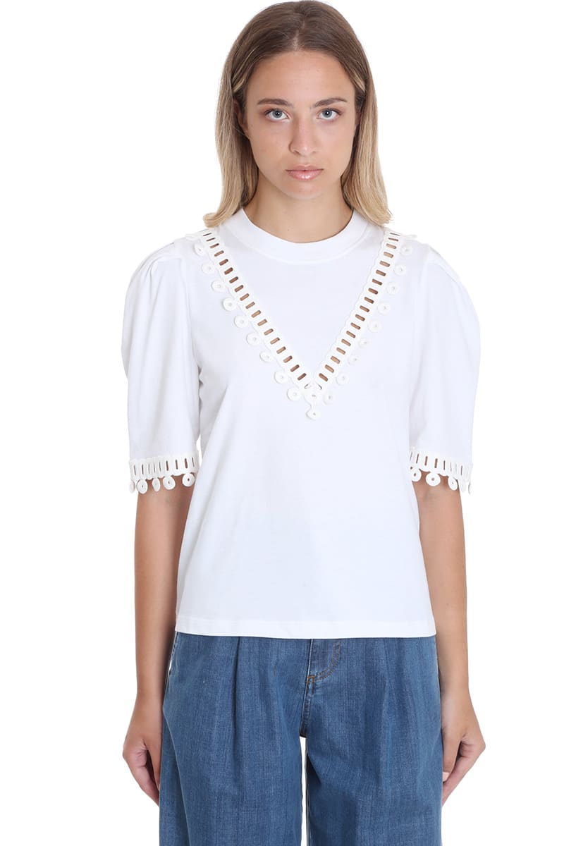 See by Chloé T-shirt In White Cotton