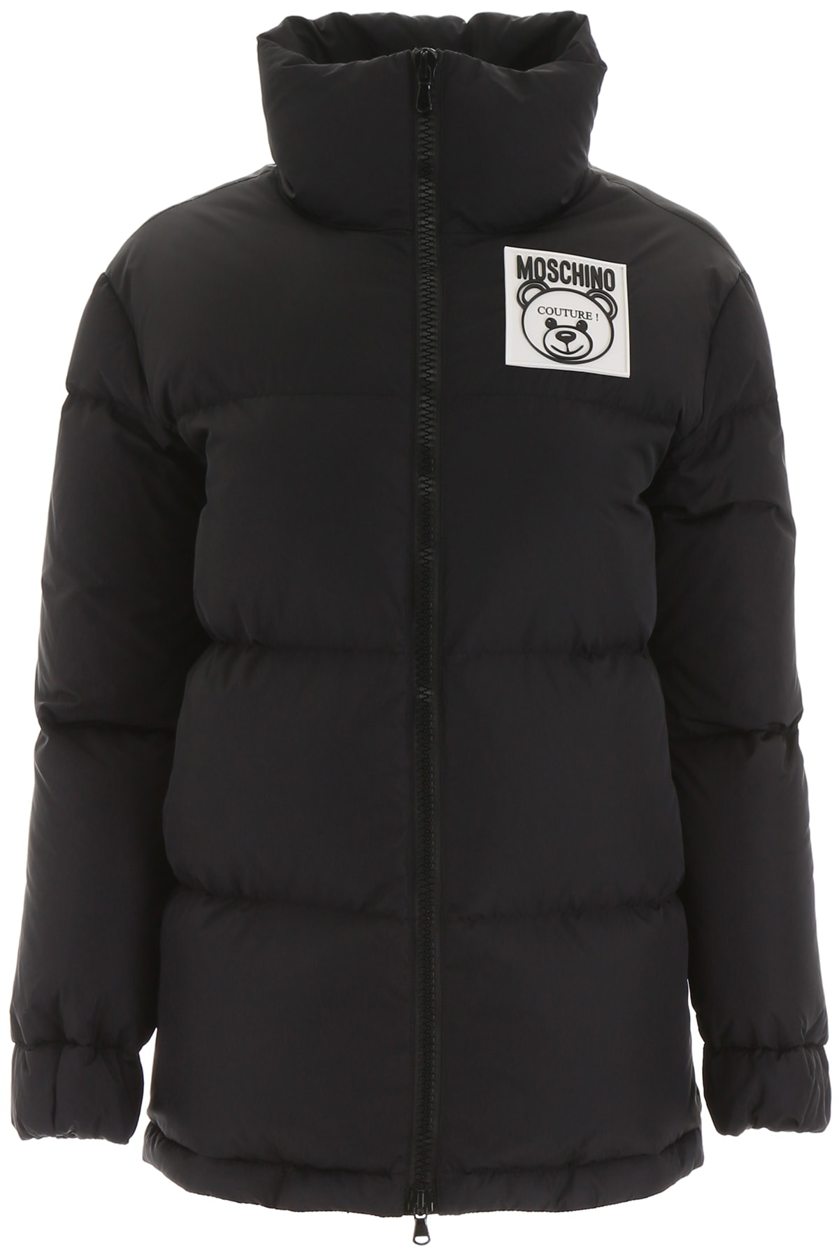 Moschino Puffer Jacket With Logo Patch