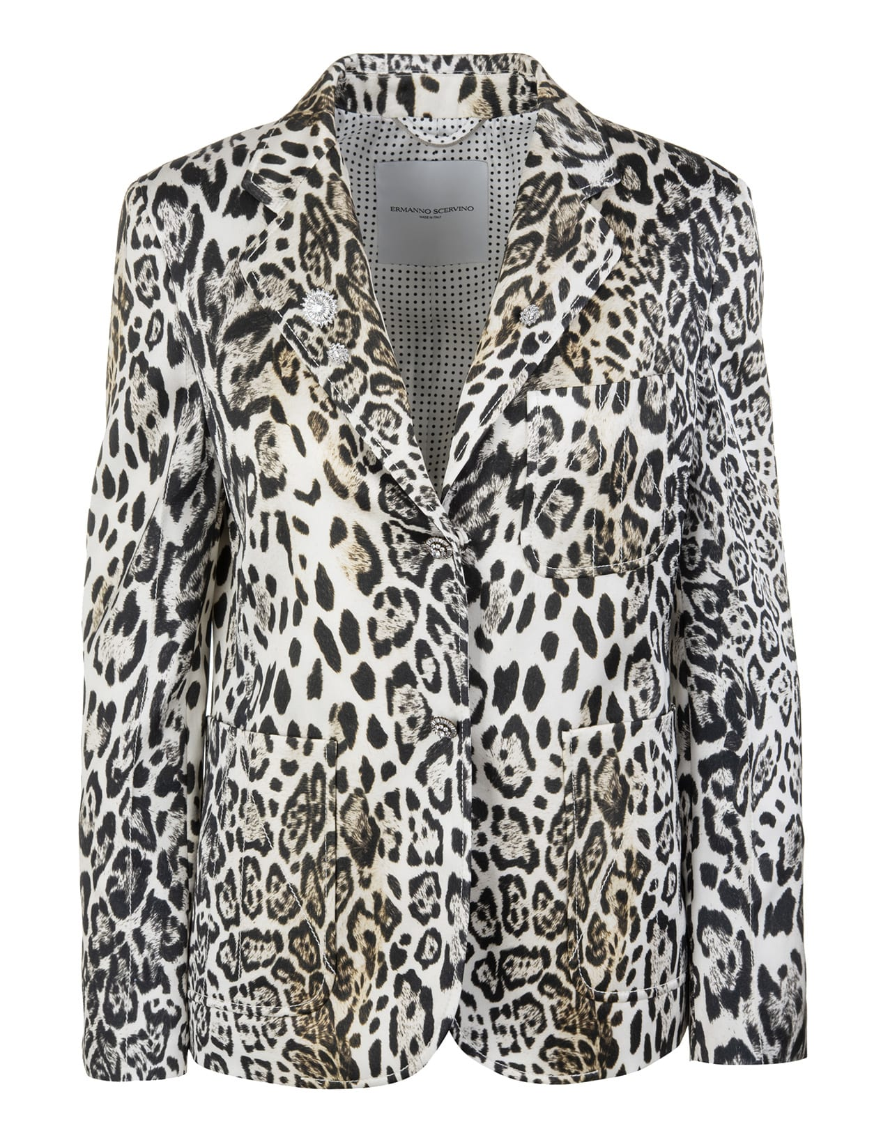 Ermanno Scervino ANIMALIER SATIN JACKET