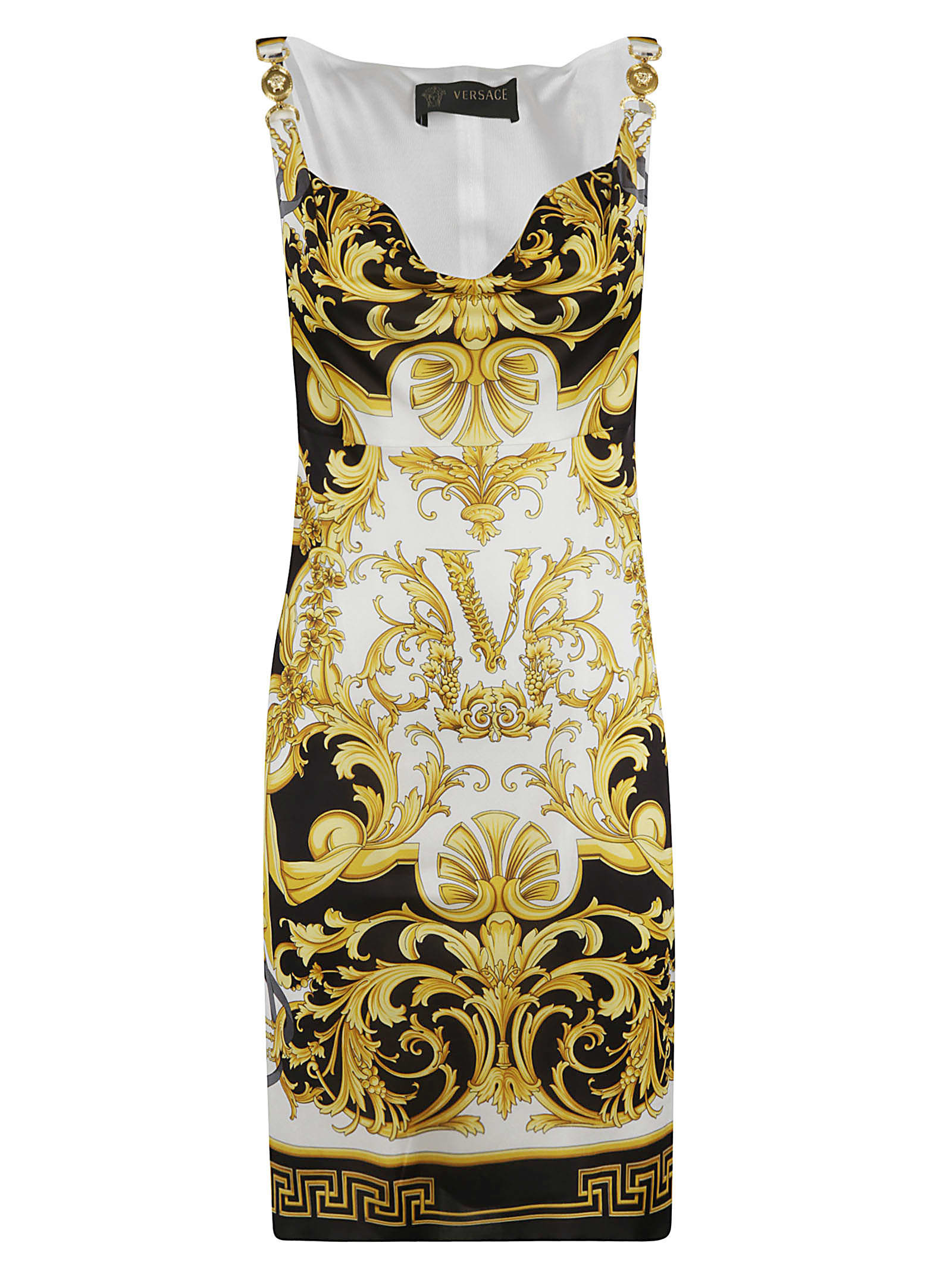 Buy Versace Initials Print Sleeveless Dress online, shop Versace with free shipping