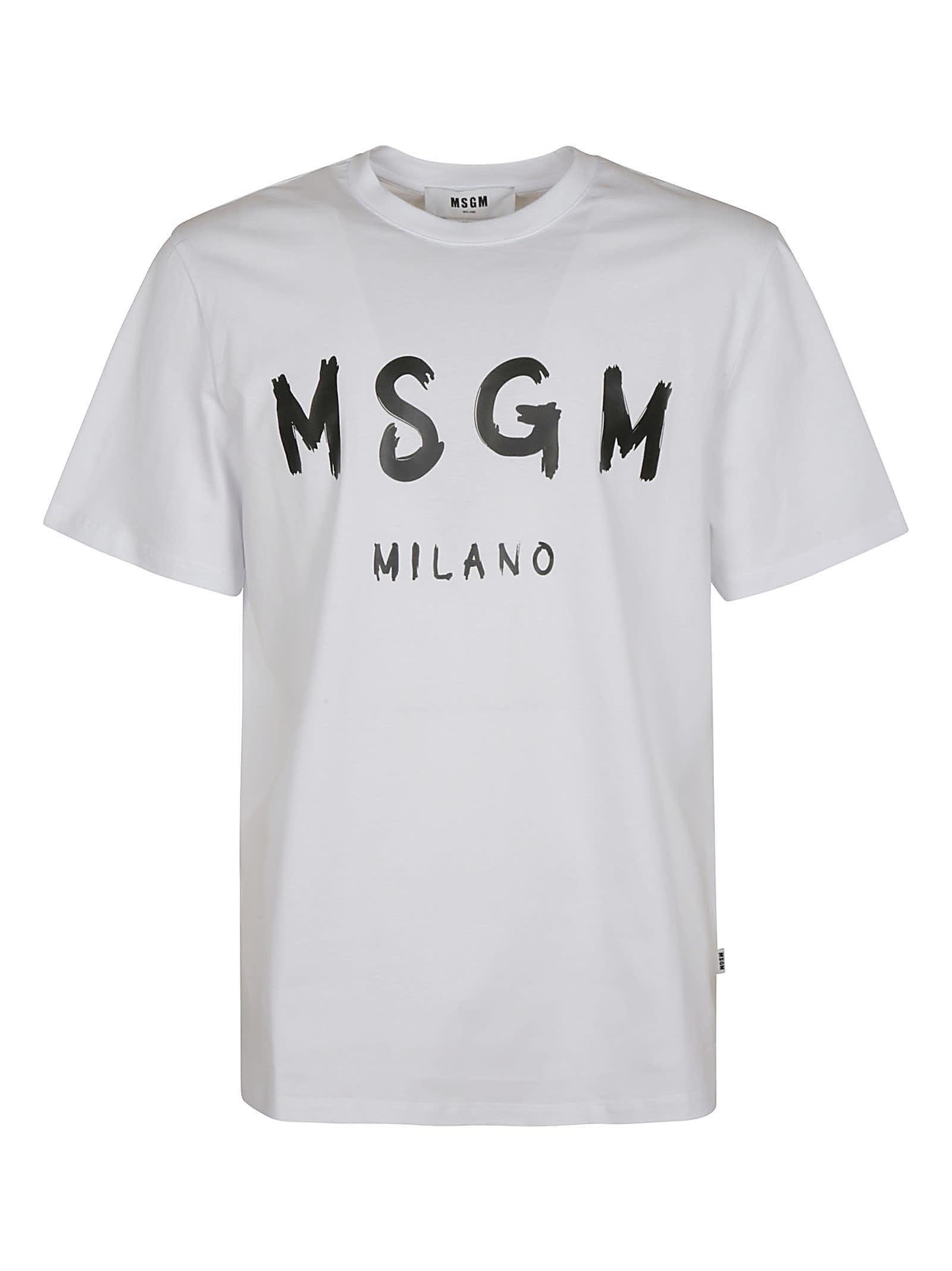 Msgm Cottons MILANO LOGO PRINT T-SHIRT