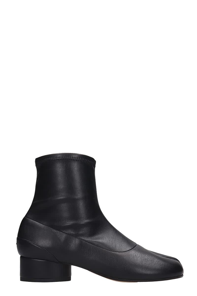 Photo of Maison Margiela Tabi Low Heels Ankle Boots In Black Leather - shop Maison Margiela clothing 100% sales