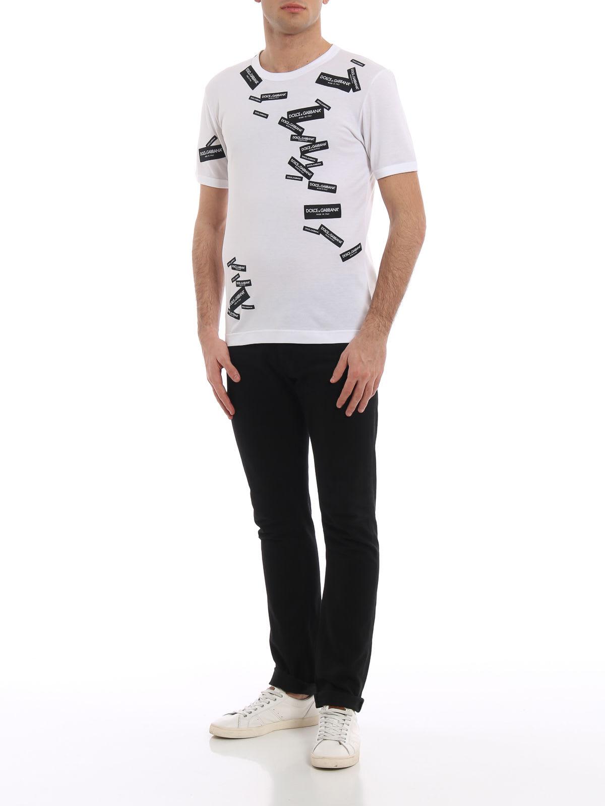 DOLCE & GABBANA Cottons Dolce & Gabbana Logo Print T-shirt