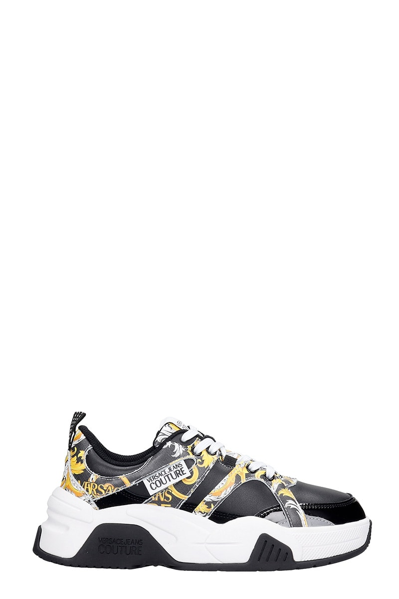 Versace Jeans Couture Sneakers In Black Tech/synthetic