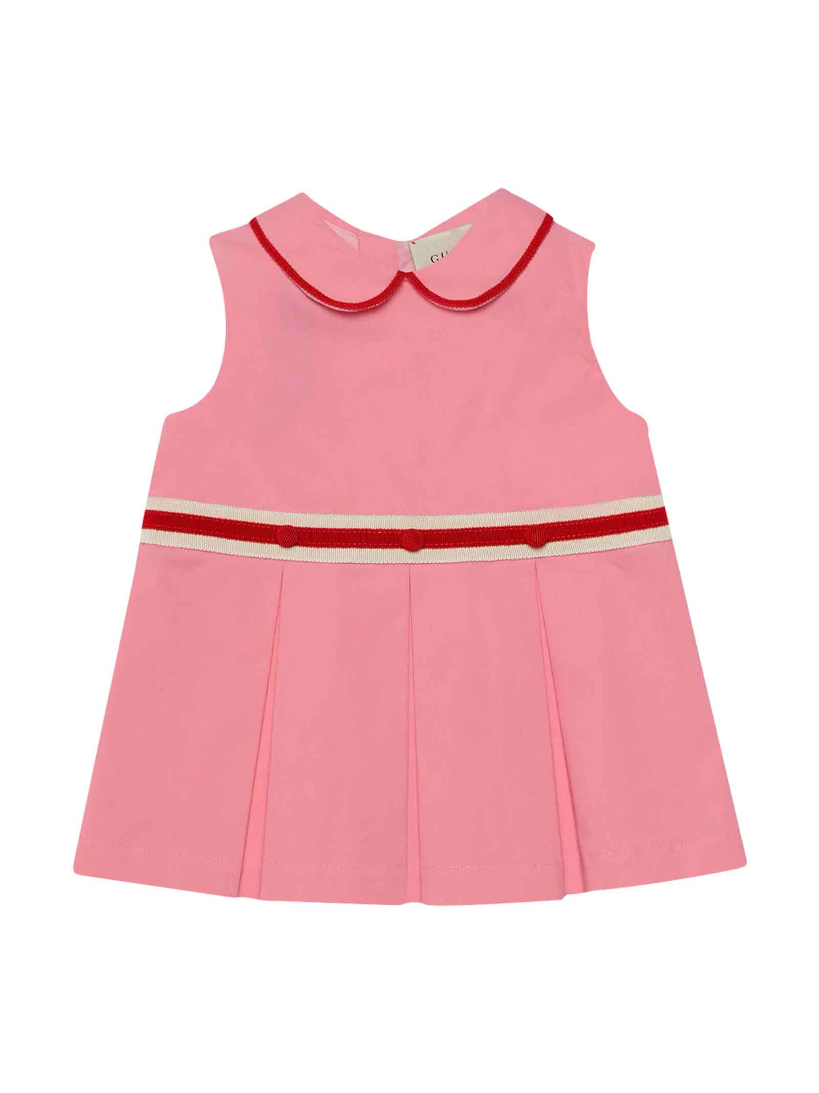 Buy Gucci Pink Dress online, shop Gucci with free shipping