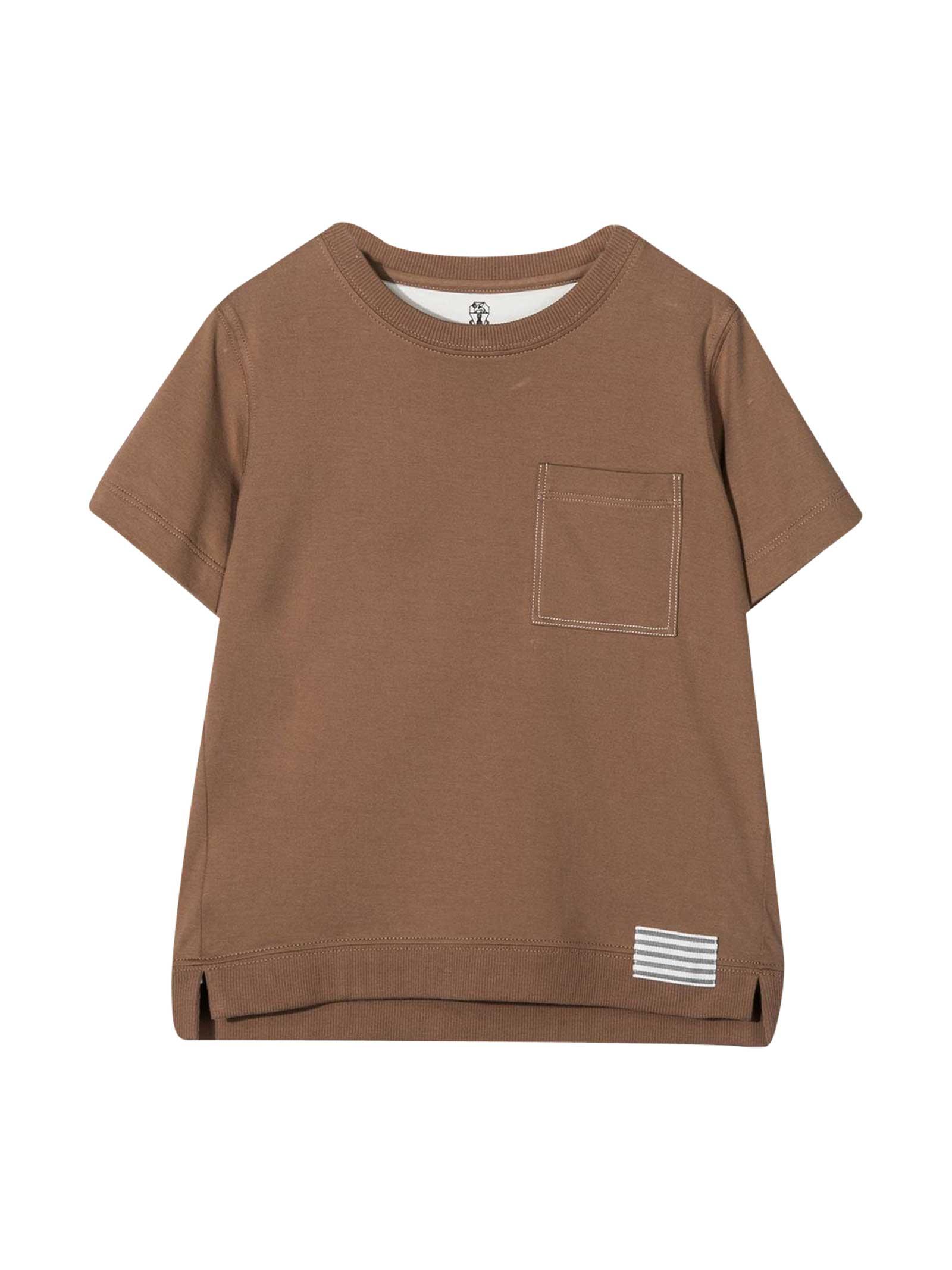 Brunello Cucinelli T-shirts COCOA T-SHIRT TEEN