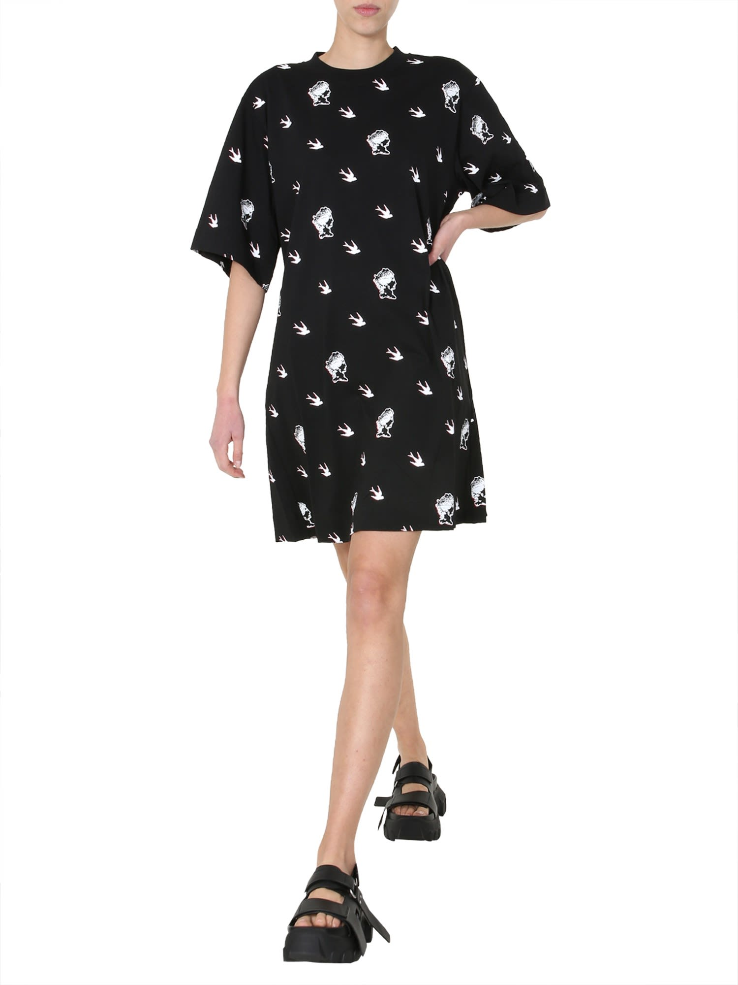 Buy McQ Alexander McQueen Round Neck T-shirt Dress online, shop McQ Alexander McQueen with free shipping