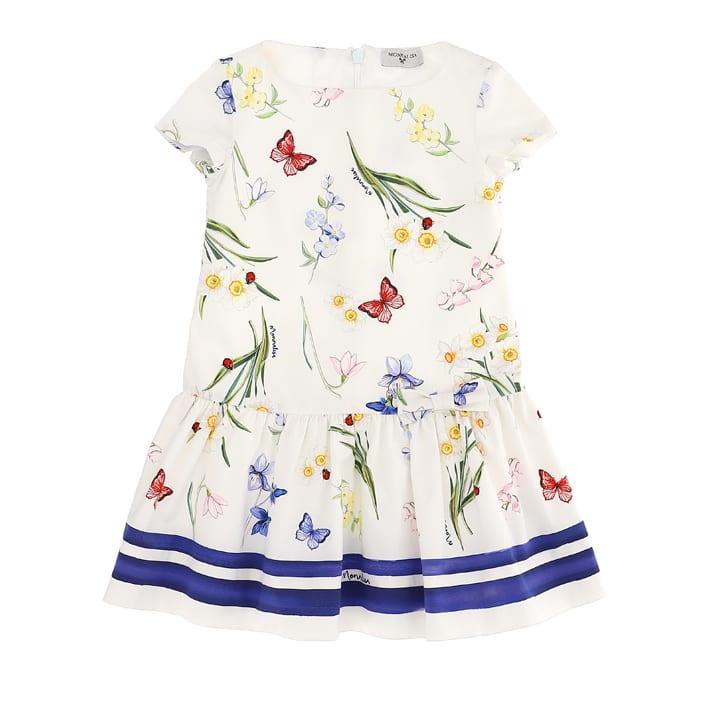 Buy Monnalisa Ottoman Ramage Dress online, shop Monnalisa with free shipping