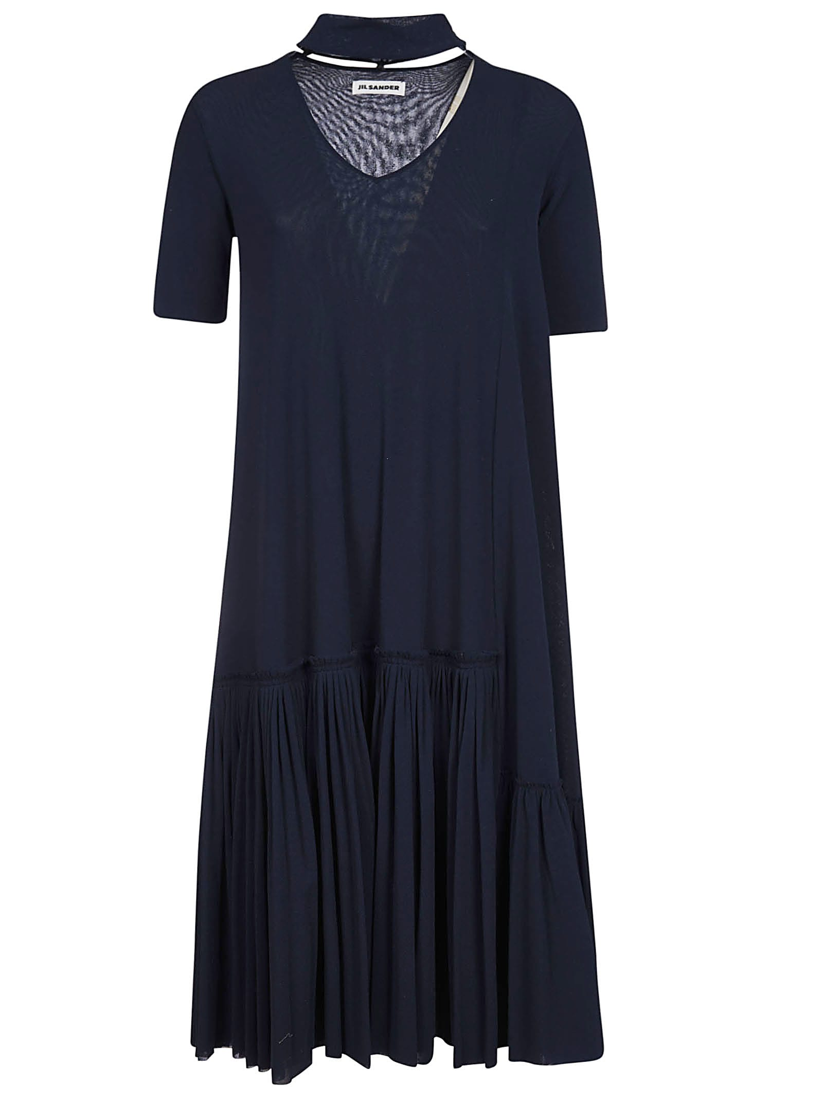 Buy Jil Sander Pleated Maxi Dress online, shop Jil Sander with free shipping