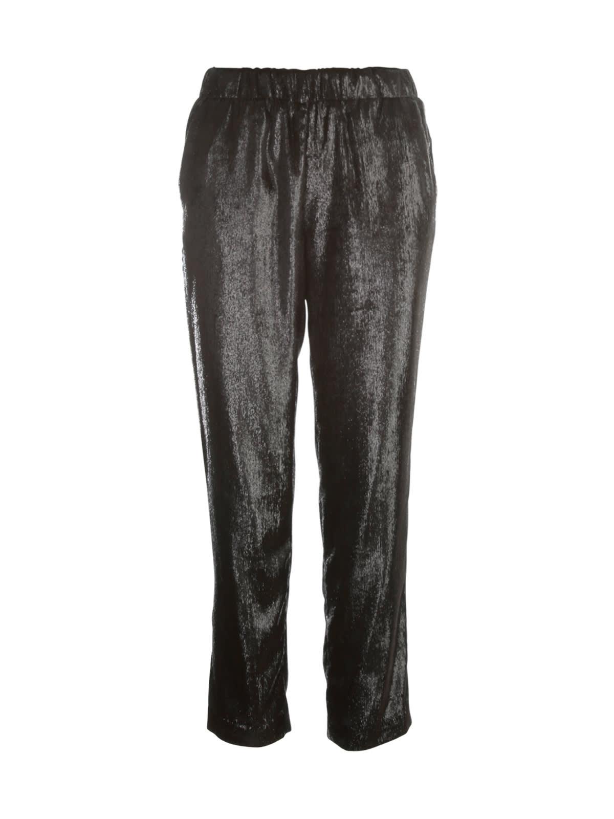 George Elastic Pants W/velvet Lurex