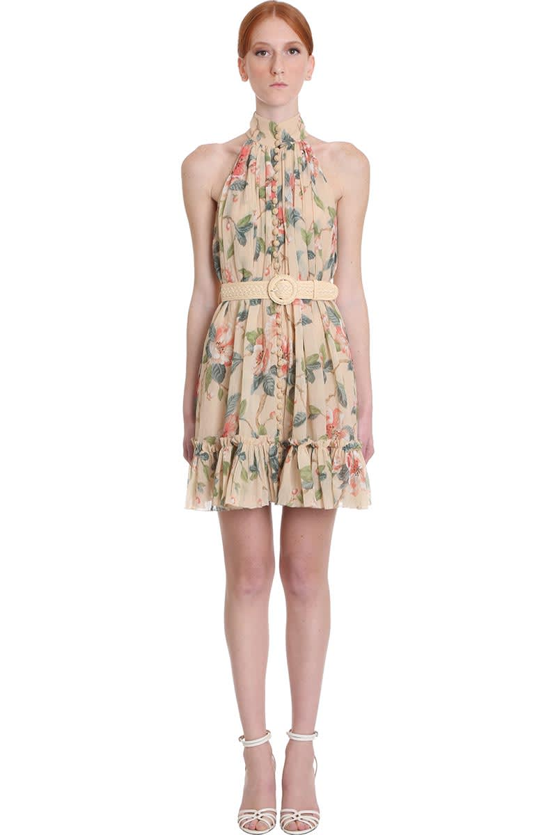 Buy Zimmermann Kirra Short Dress In Multicolor Silk online, shop Zimmermann with free shipping