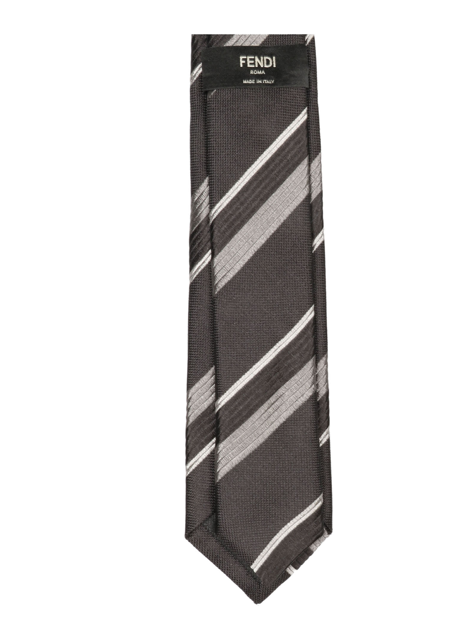 Fashion Style Fendi Diagonal Striped Tie