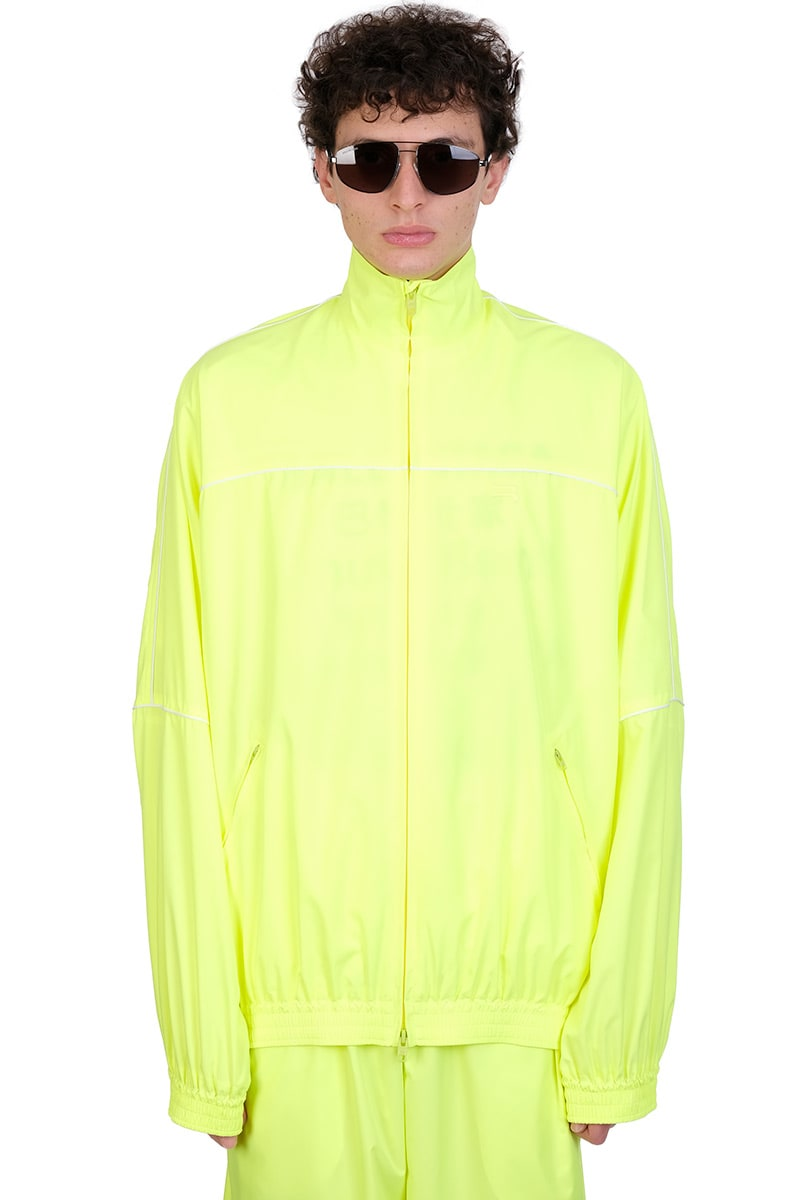 Balenciaga CASUAL JACKET IN YELLOW POLYESTER