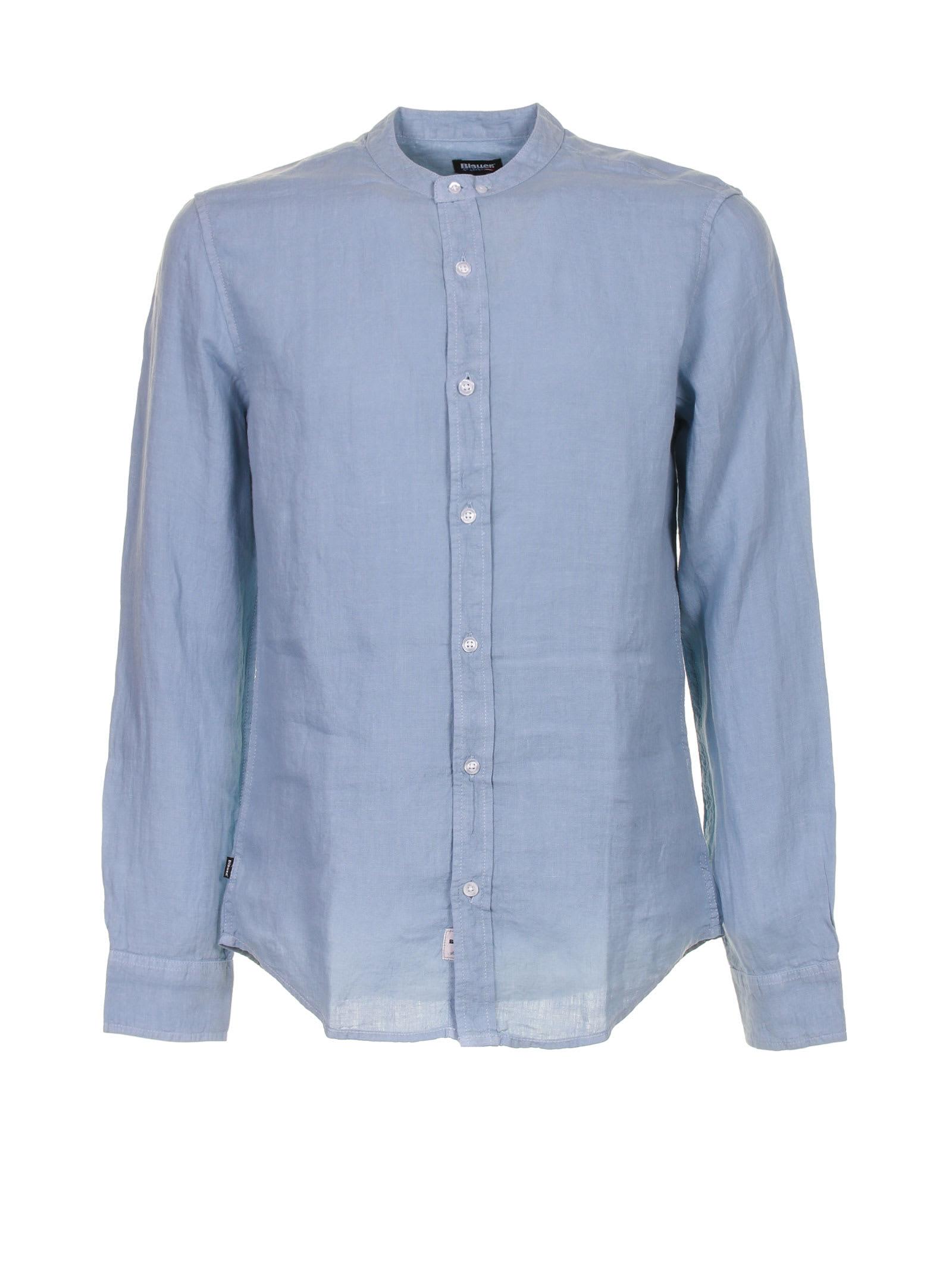 Shirt In Light Blue Linen