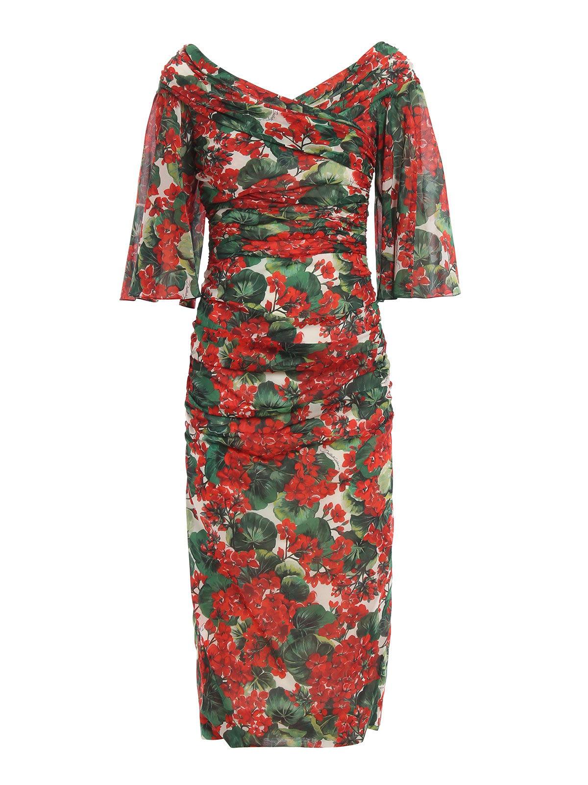 Buy Dolce & Gabbana Printed Gerani Dress online, shop Dolce & Gabbana with free shipping