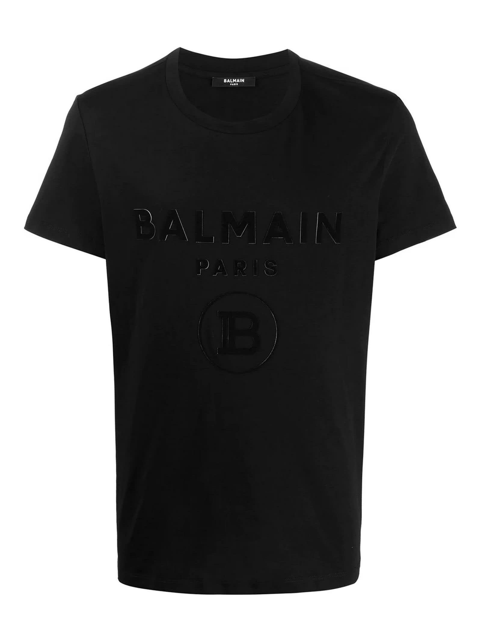 Balmain Cottons BLACK COTTON T-SHIRT