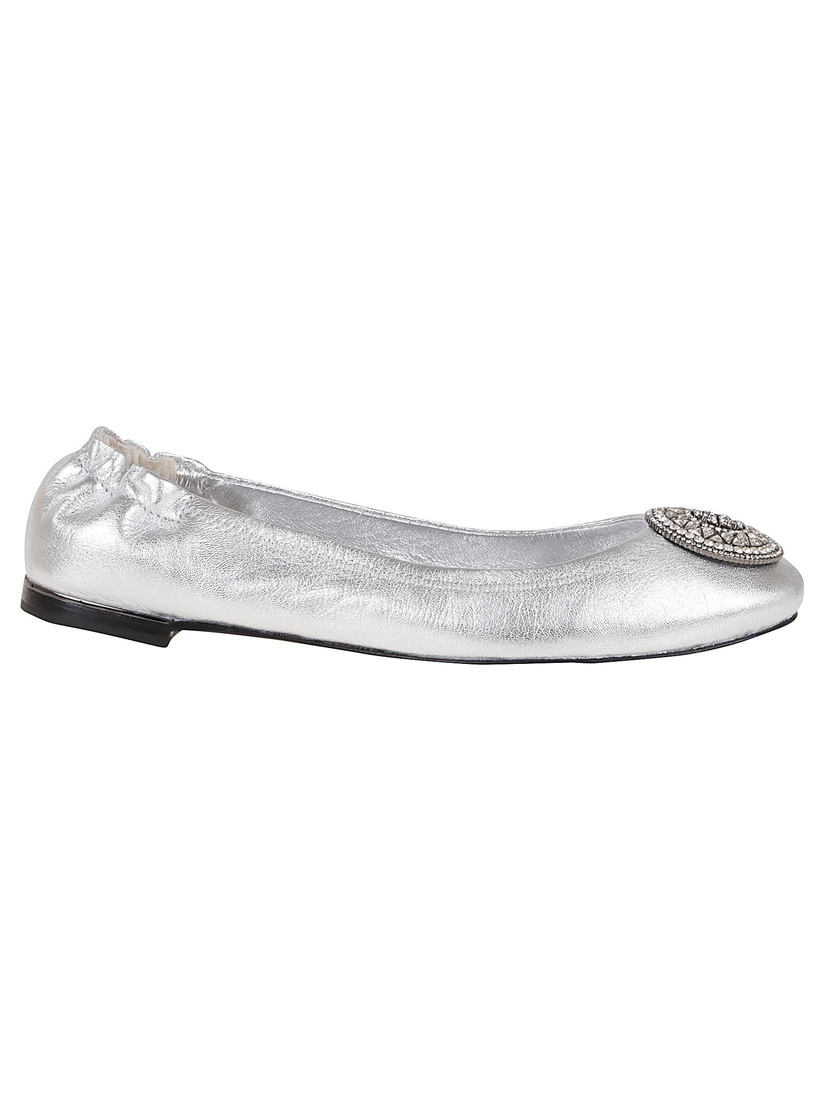 Buy Tory Burch Crystal Logo 5mm Ballet online, shop Tory Burch shoes with free shipping