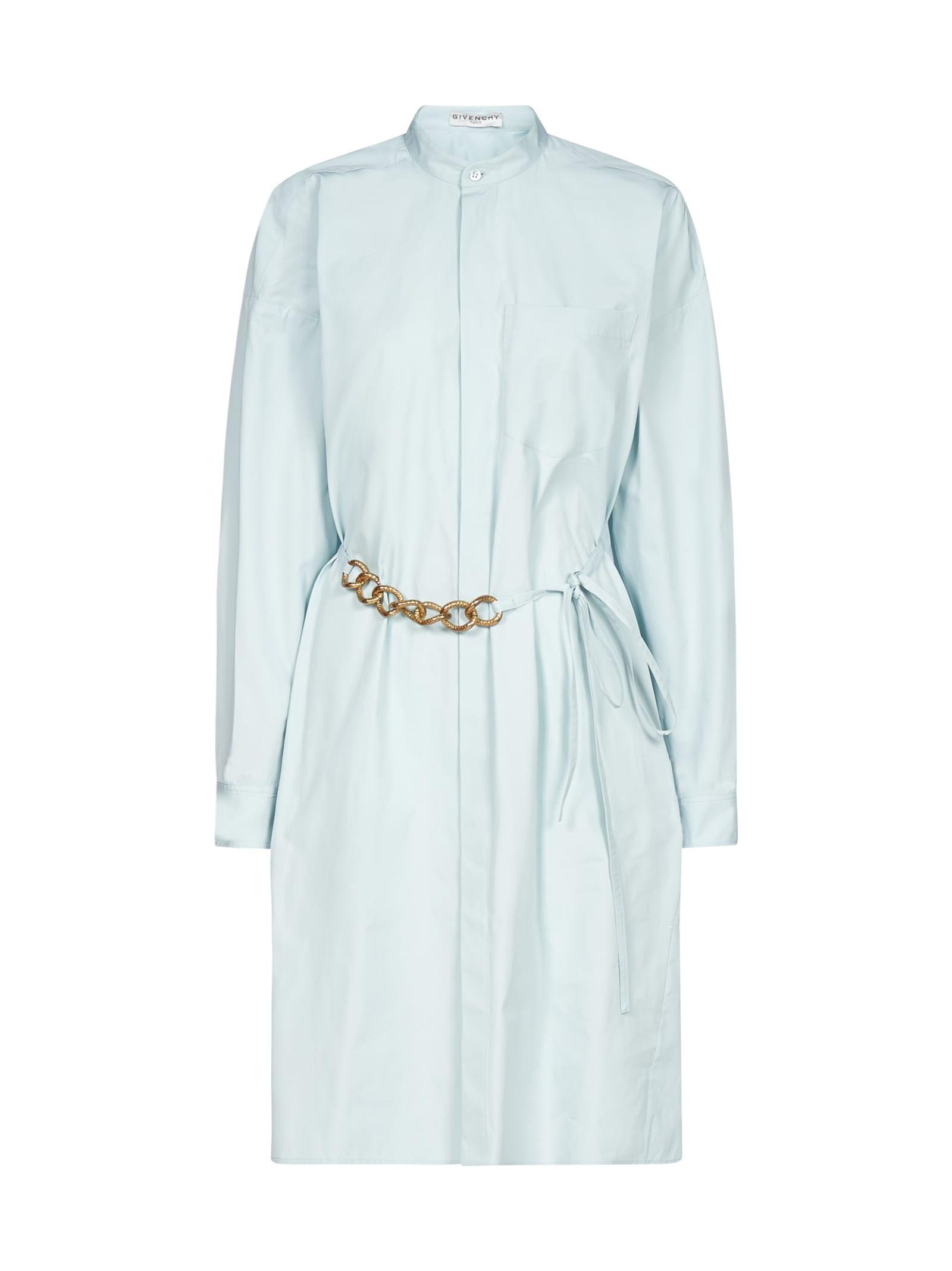 Givenchy Jewel-belt Cotton Shirt Dress