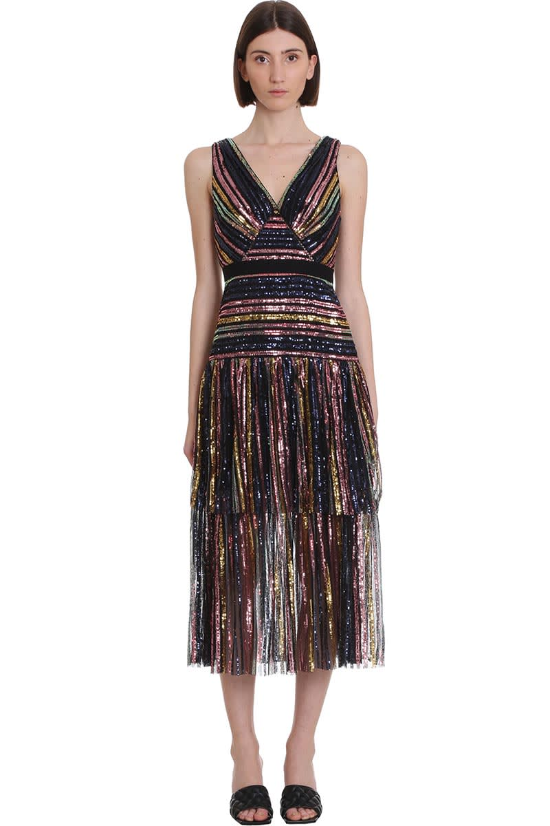 Self-Portrait DRESS IN MULTICOLOR POLYESTER