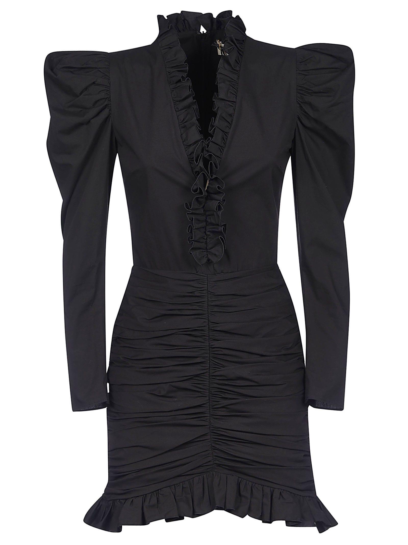 Buy Giuseppe di Morabito Ruffle Detail V-neck Dress online, shop Giuseppe di Morabito with free shipping