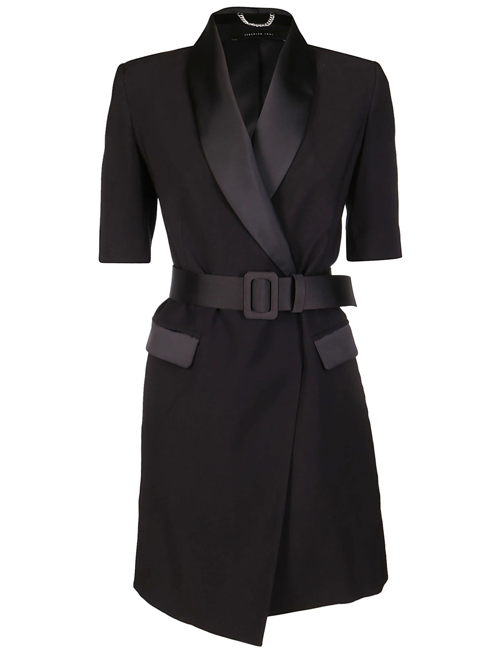 Buy Federica Tosi Black Viscose Dress online, shop Federica Tosi with free shipping