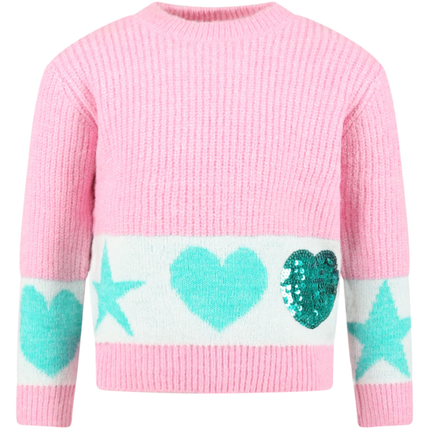 Pink Sweater For Girl With Hearts
