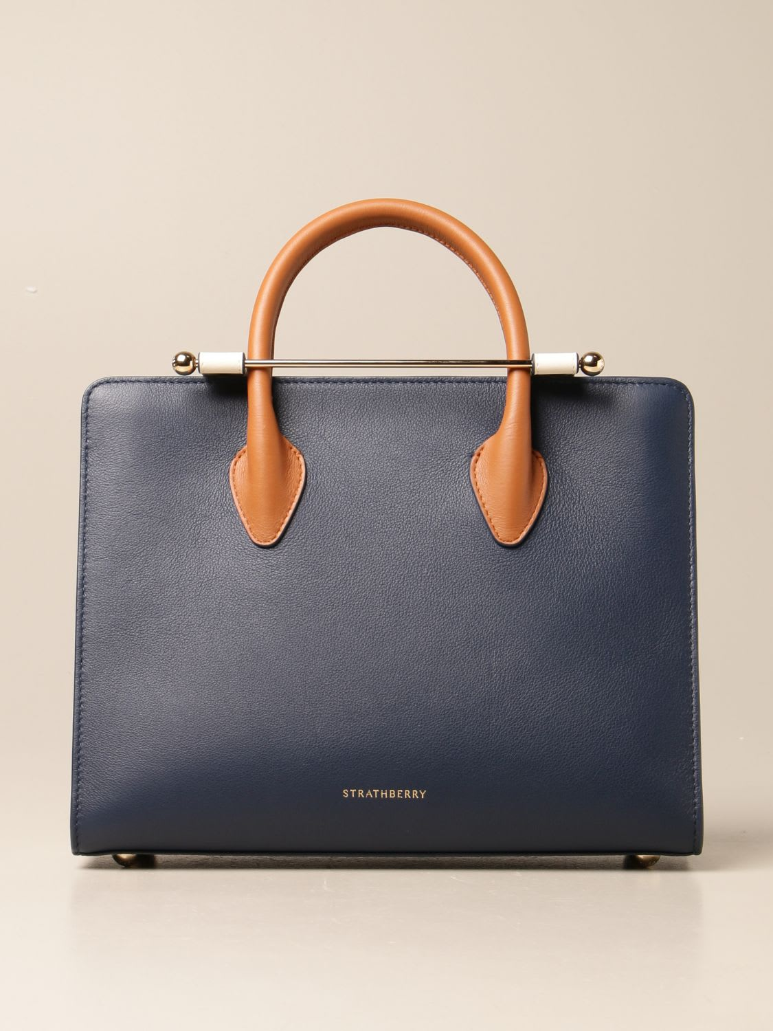 Strathberry Shoulder Bag Strathberry Midi Tote Bag In Tricolor Leather