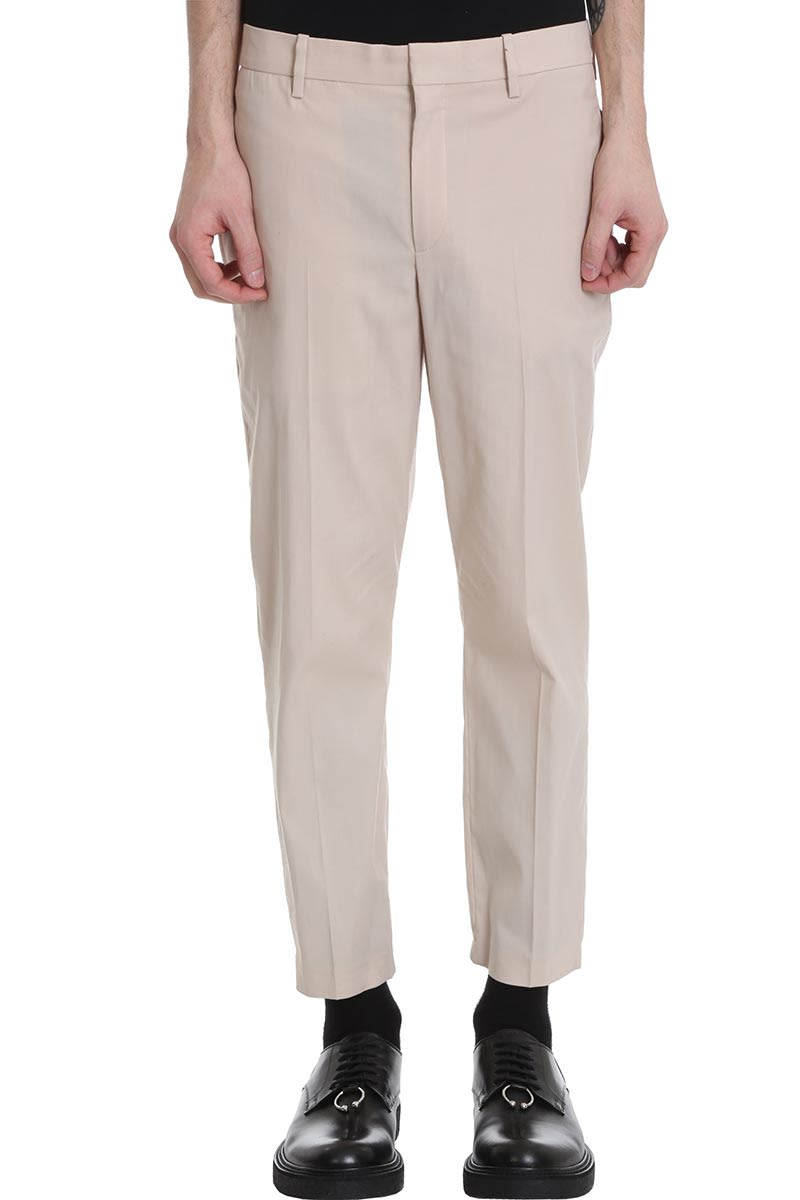 Neil Barrett Pants In Beige Polyester