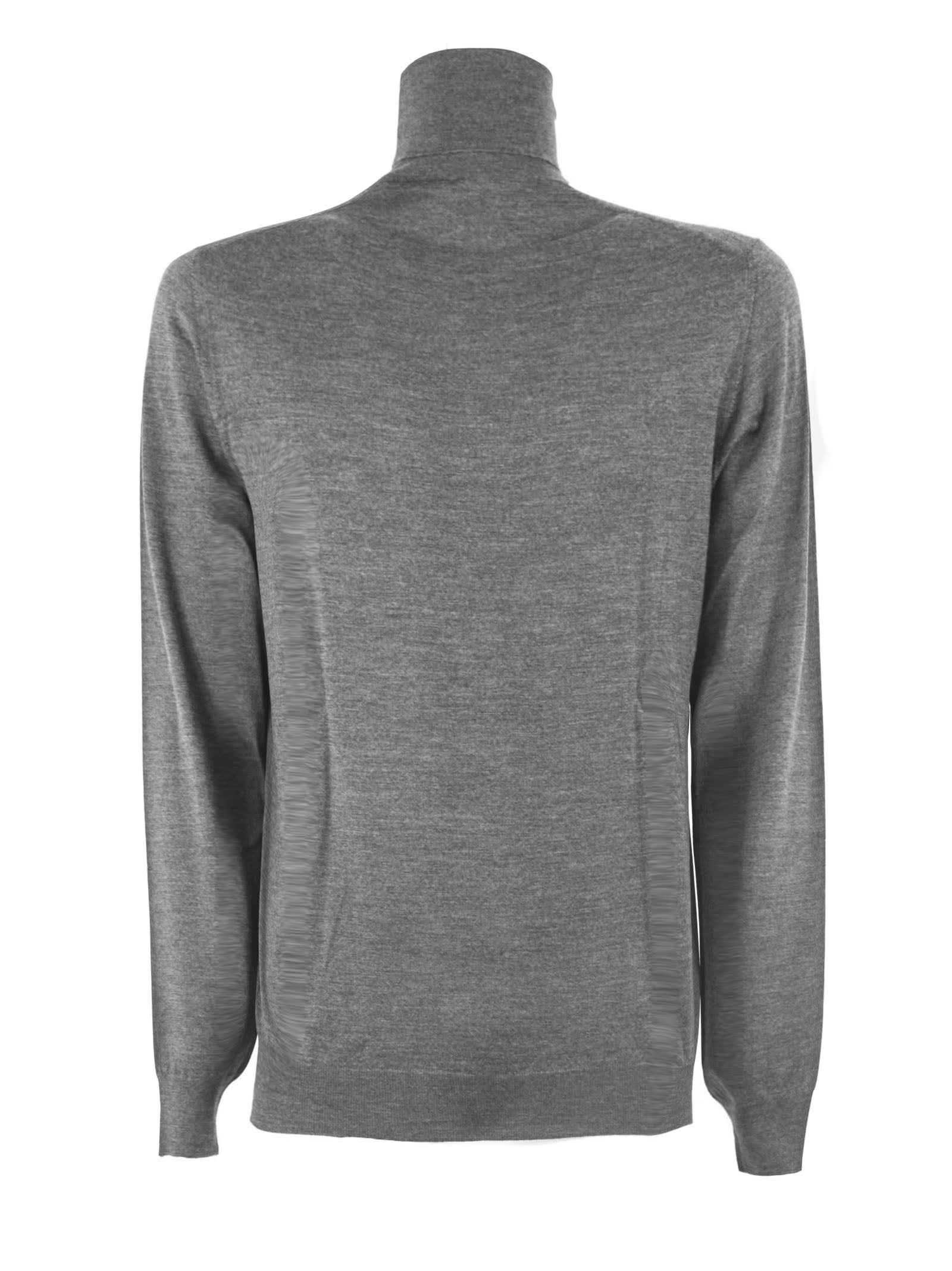 Fedeli Grey Virgin Wool Sweater