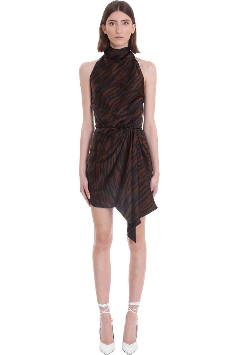 The Attico Dress In Brown Viscose