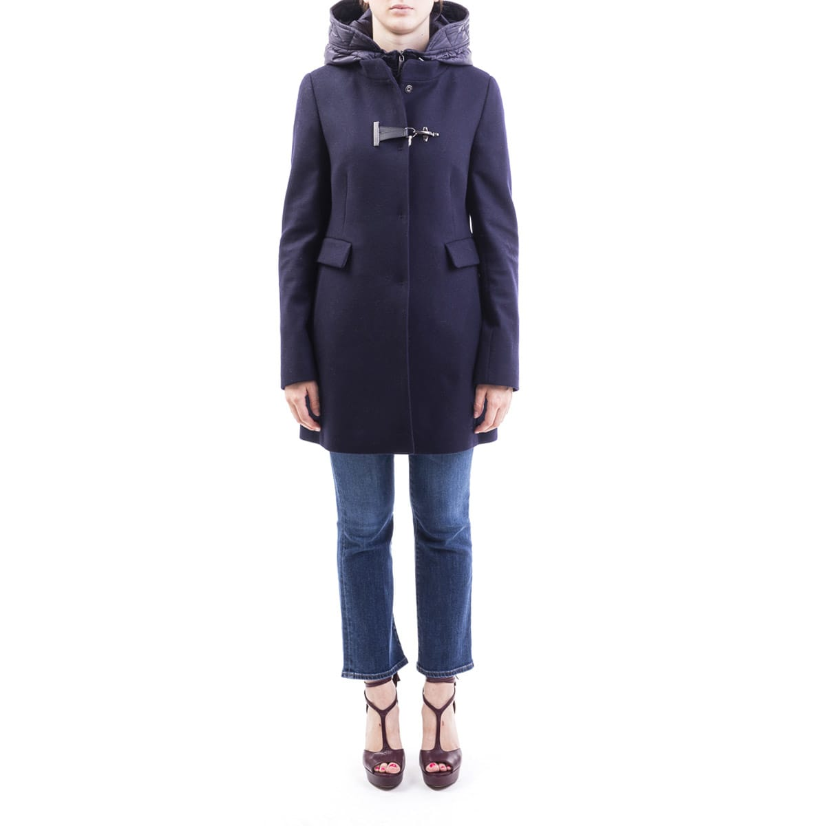 Fay Virgin Wool Blend Coat