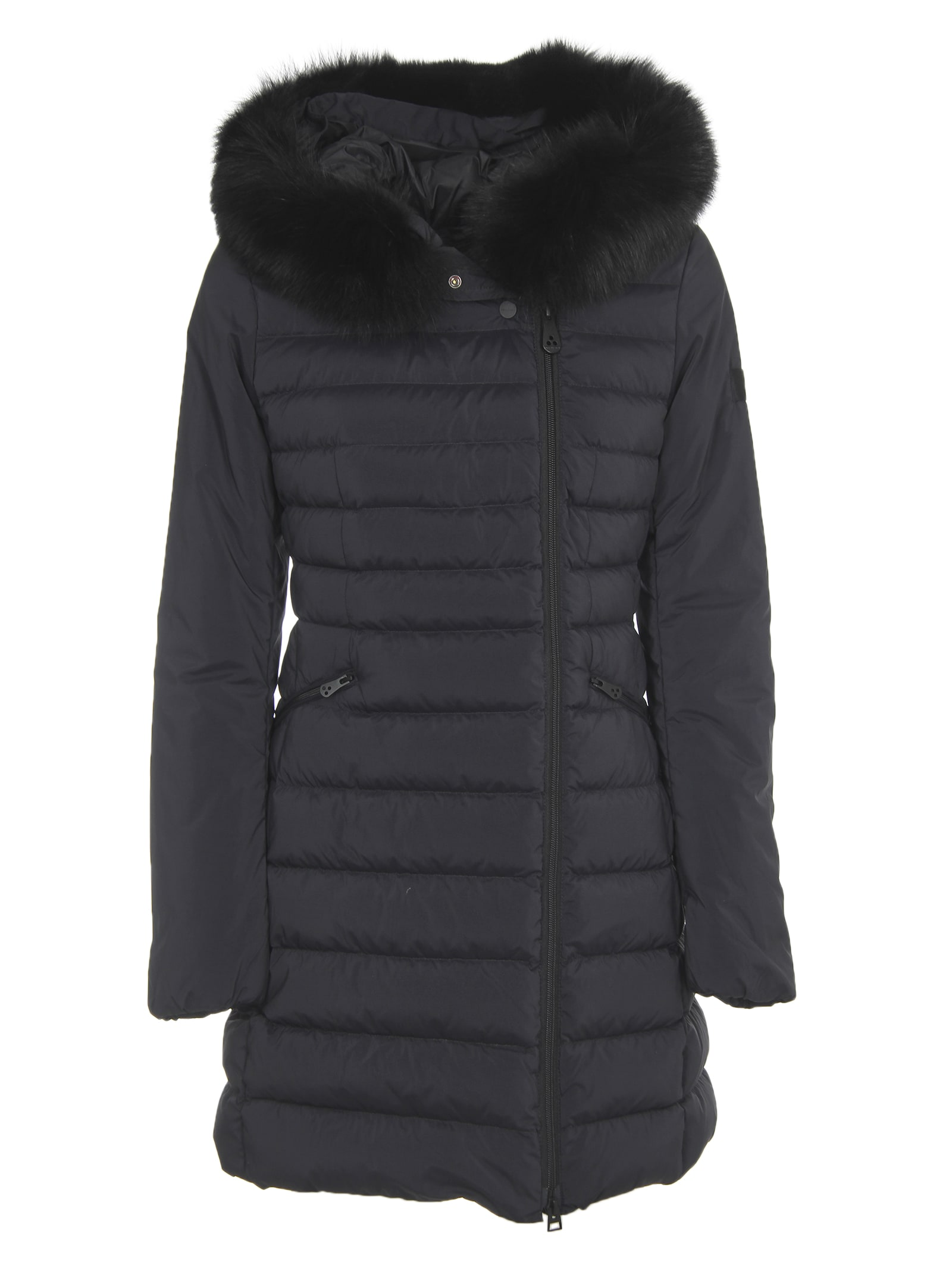 Peuterey Long Black Down Jacket
