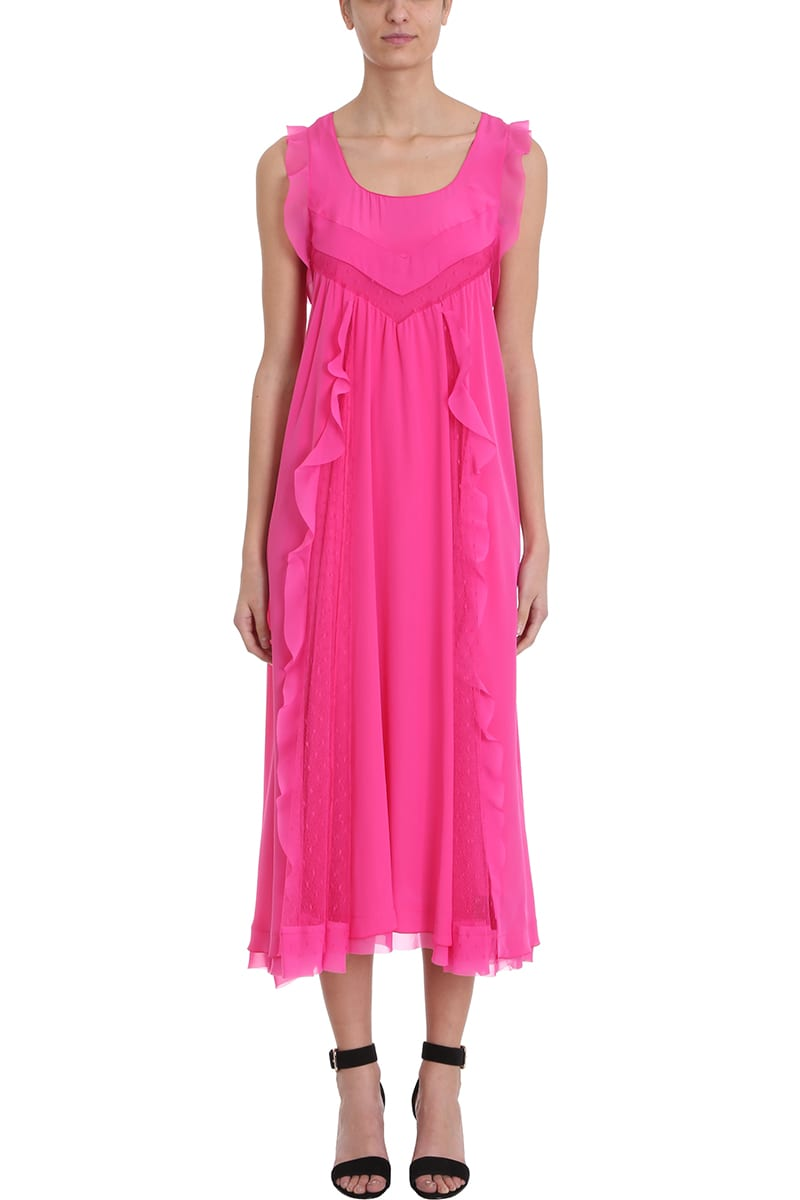 RED Valentino Fucsia Silk Dress
