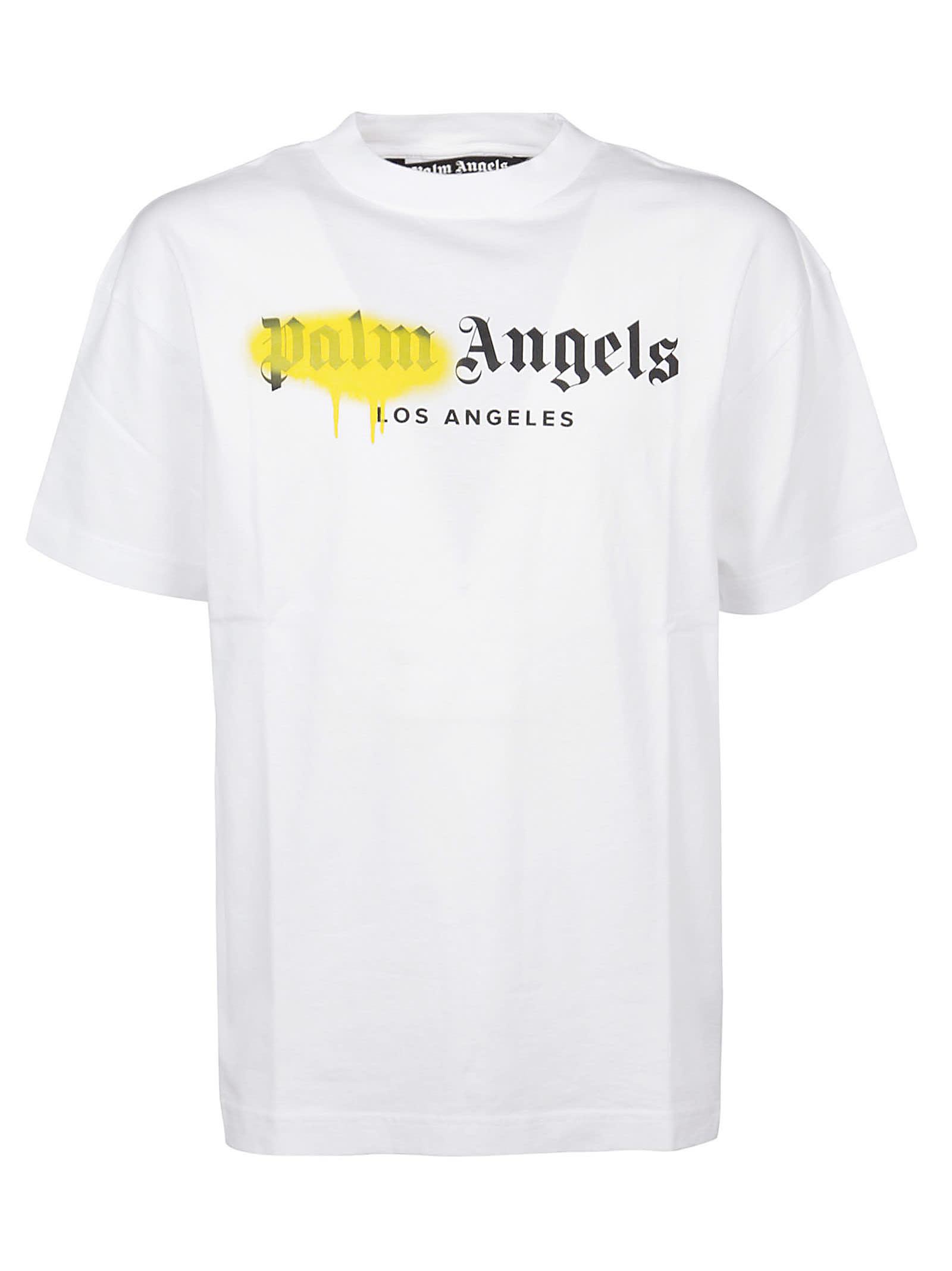 Palm Angels T-shirts LA SPRAYED LOGO T-SHIRT