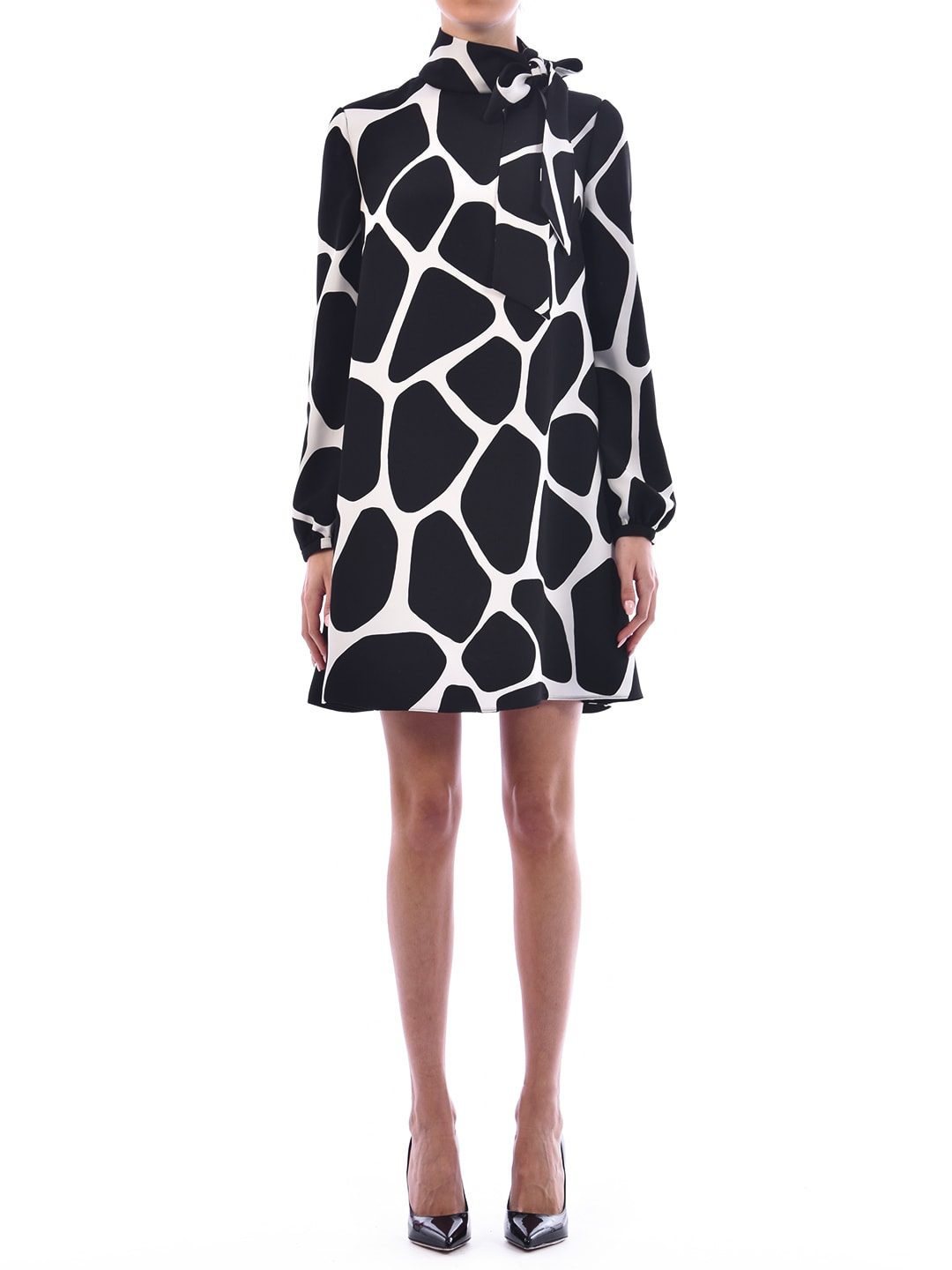Buy Valentino Printed Cady Dress online, shop Valentino with free shipping