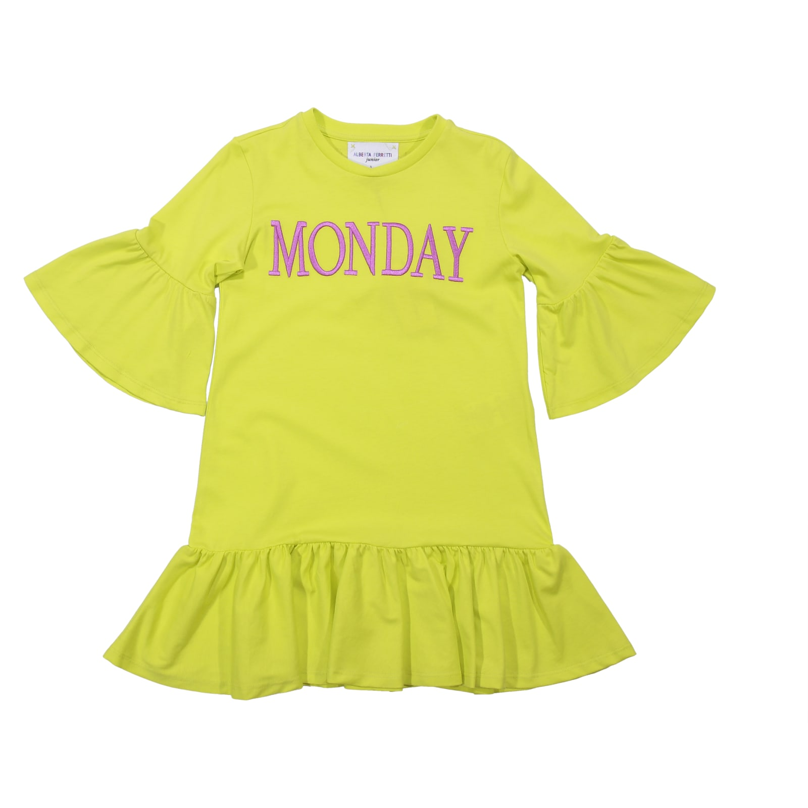 Alberta Ferretti Monday Yellow Cotton Dress