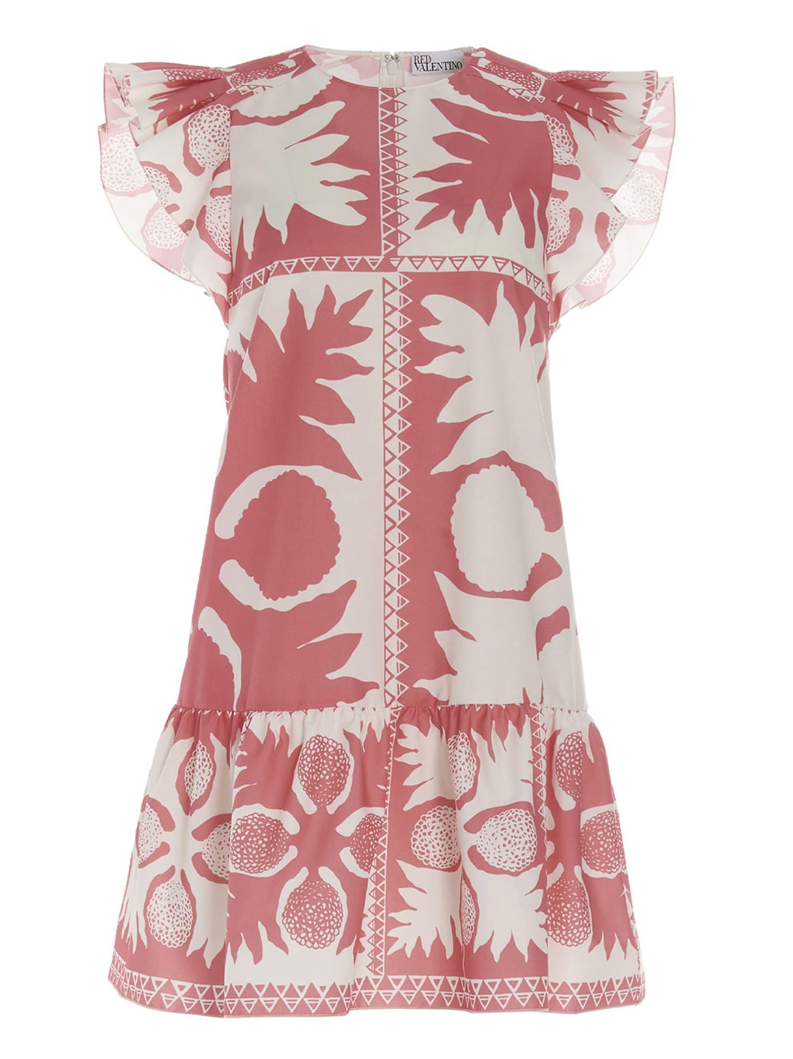 Red Valentino flower Damier Dress