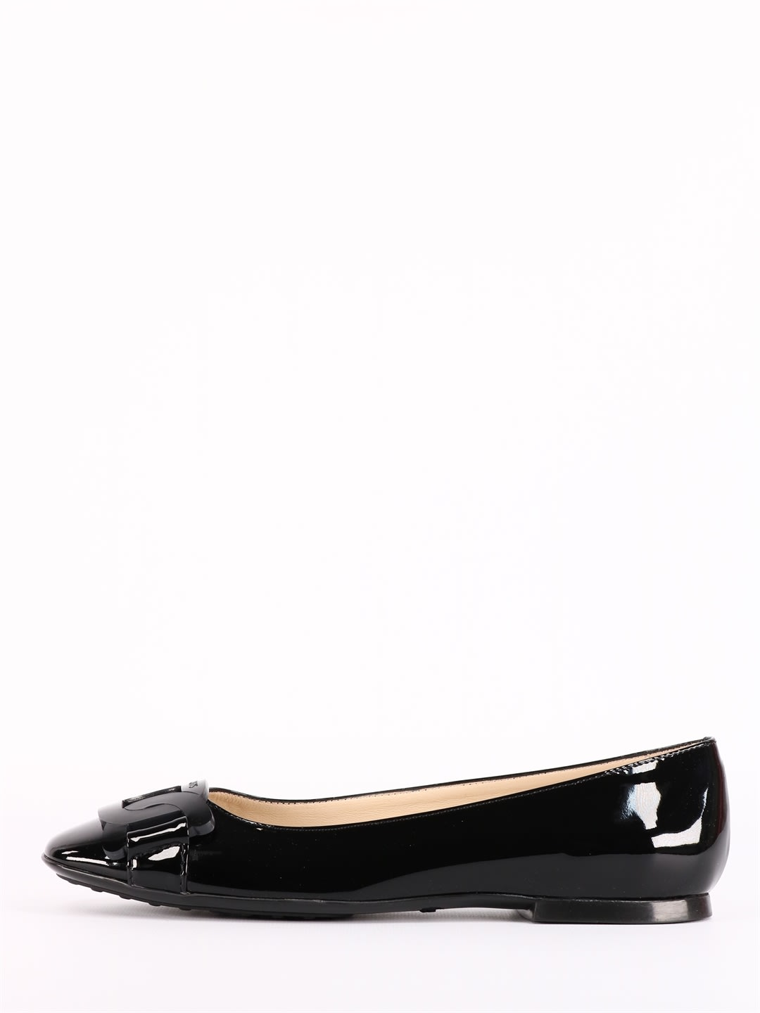 Buy Tods Chain Ballerina Black online, shop Tods shoes with free shipping
