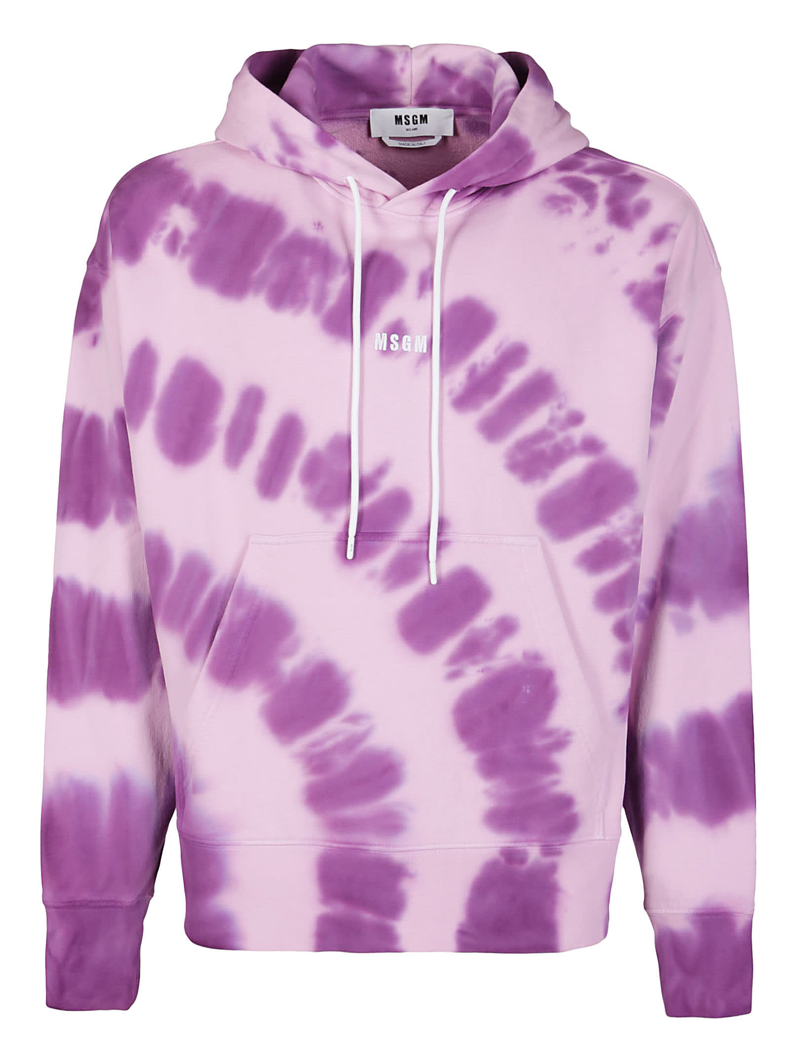 Msgm Cottons PURPLE COTTON SWEATSHIRT