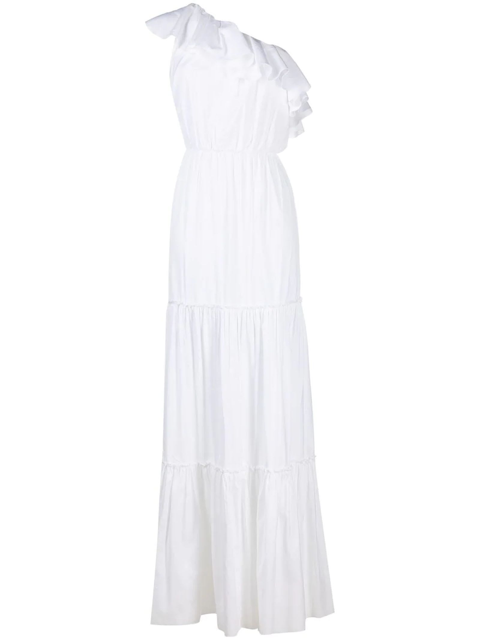 Buy Federica Tosi White Cotton And Silk Dress online, shop Federica Tosi with free shipping