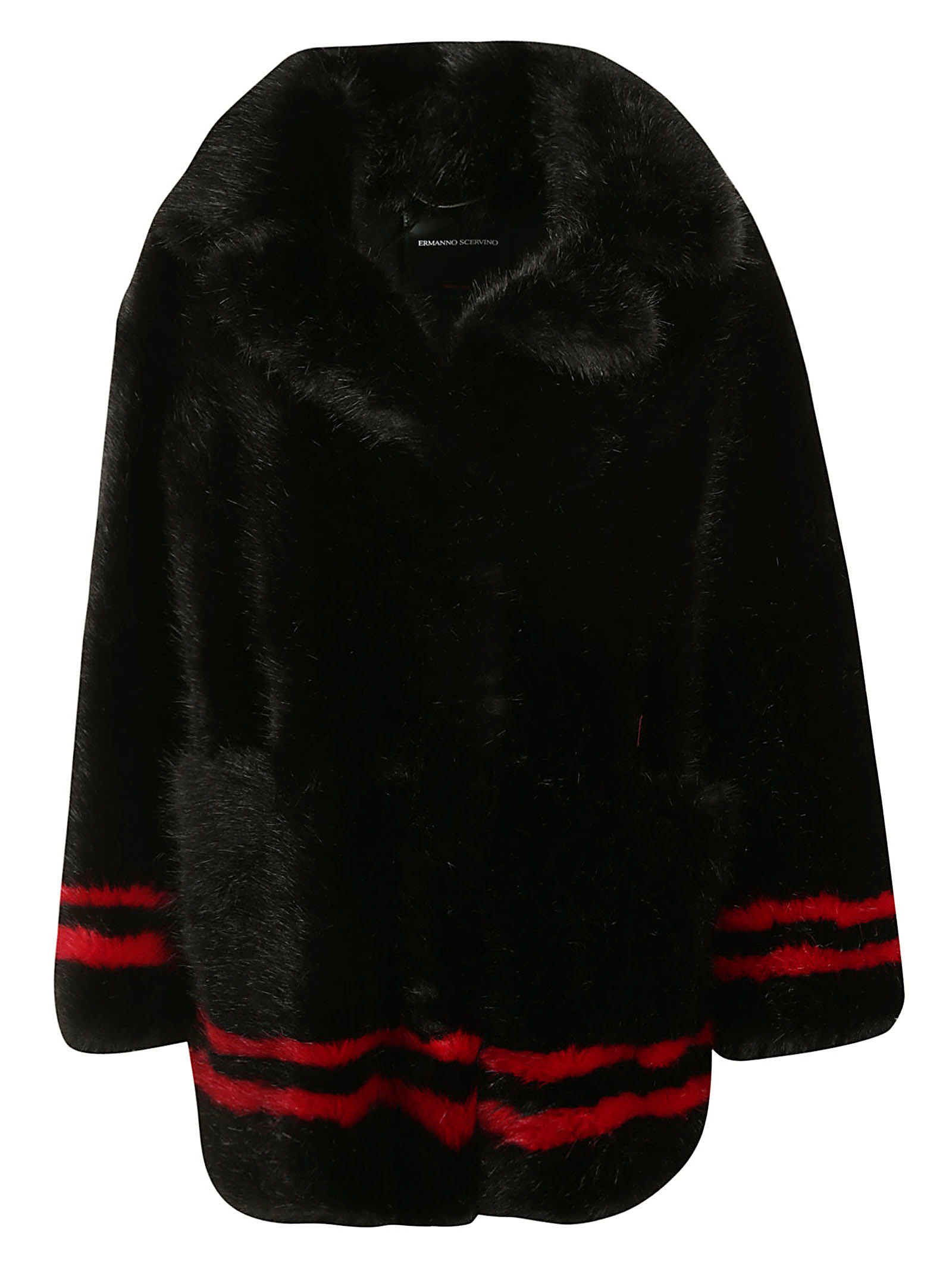 Ermanno Scervino Fur Embroidered Coat