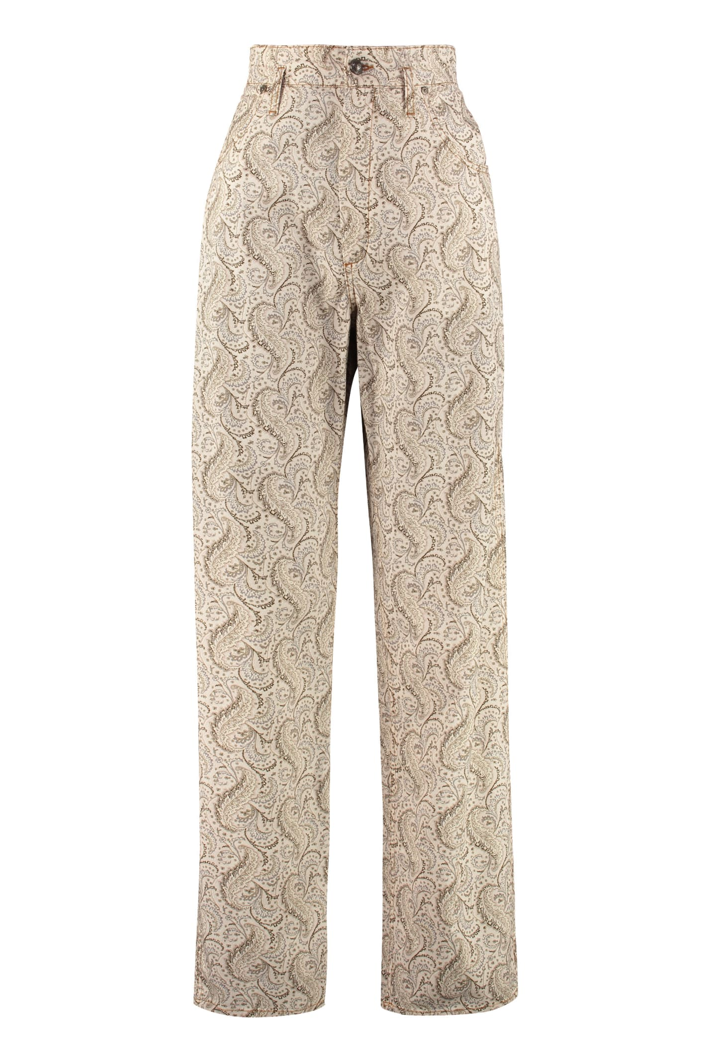 Etro High-rise Cotton Trousers