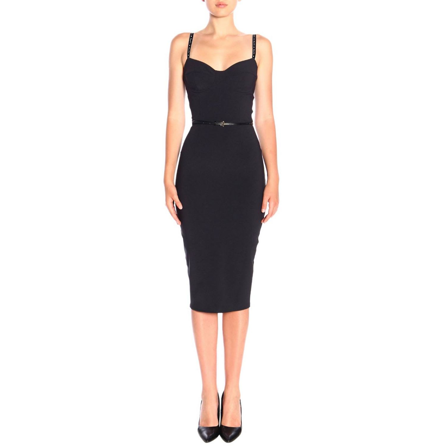 Elisabetta Franchi Dress Elisabetta Franchi Pencil Dress With Straps And Belt