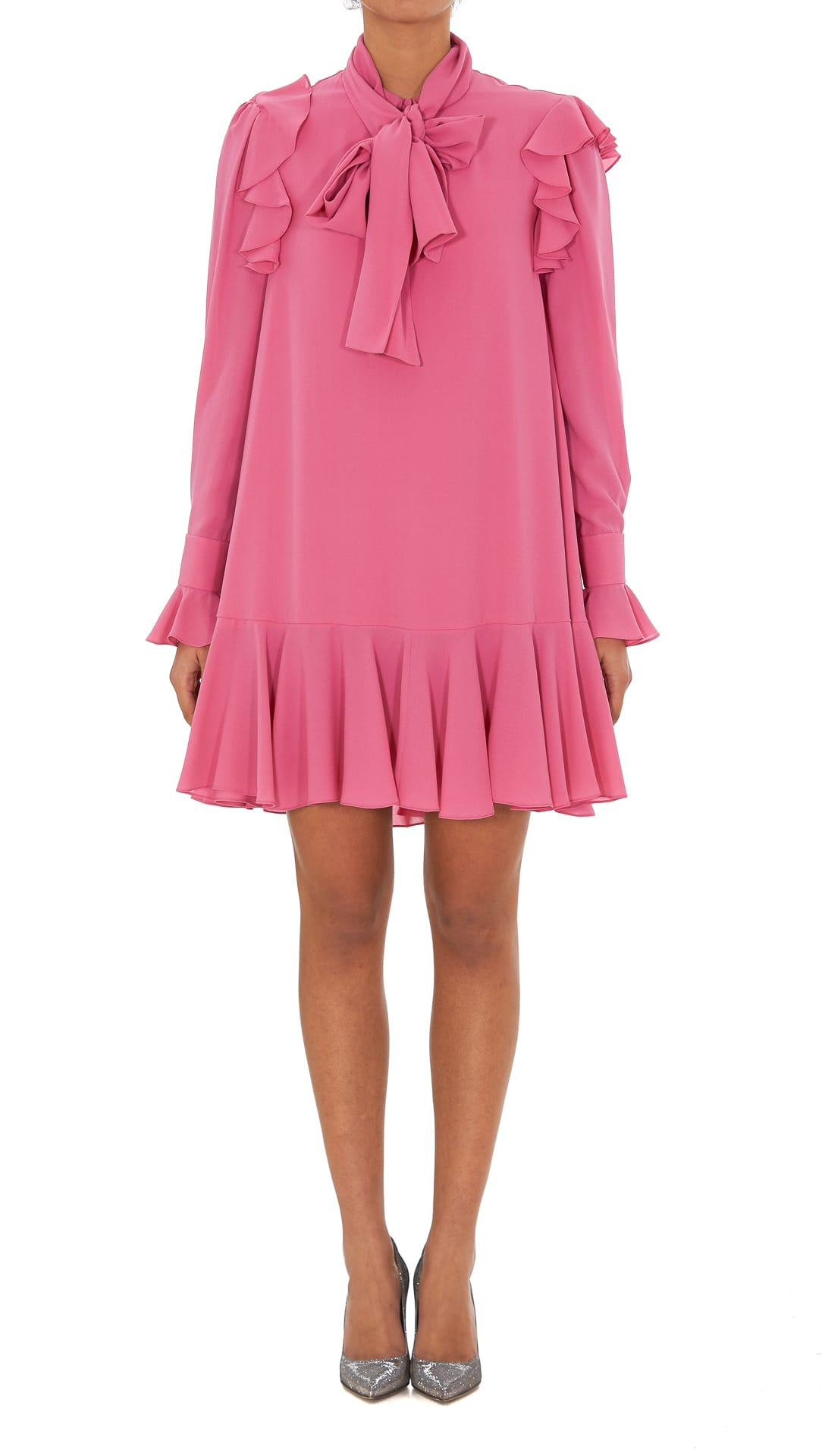 Buy Alexander Mcqueen Georgette Dress online, shop Alexander McQueen with free shipping