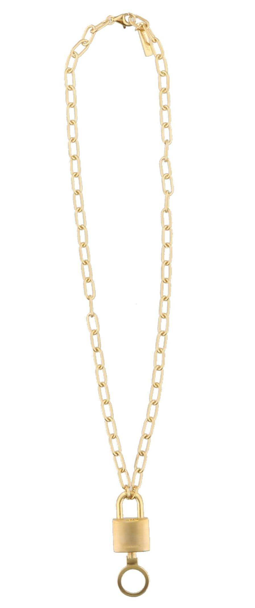 Ambush Stance Padlock Charm Necklace