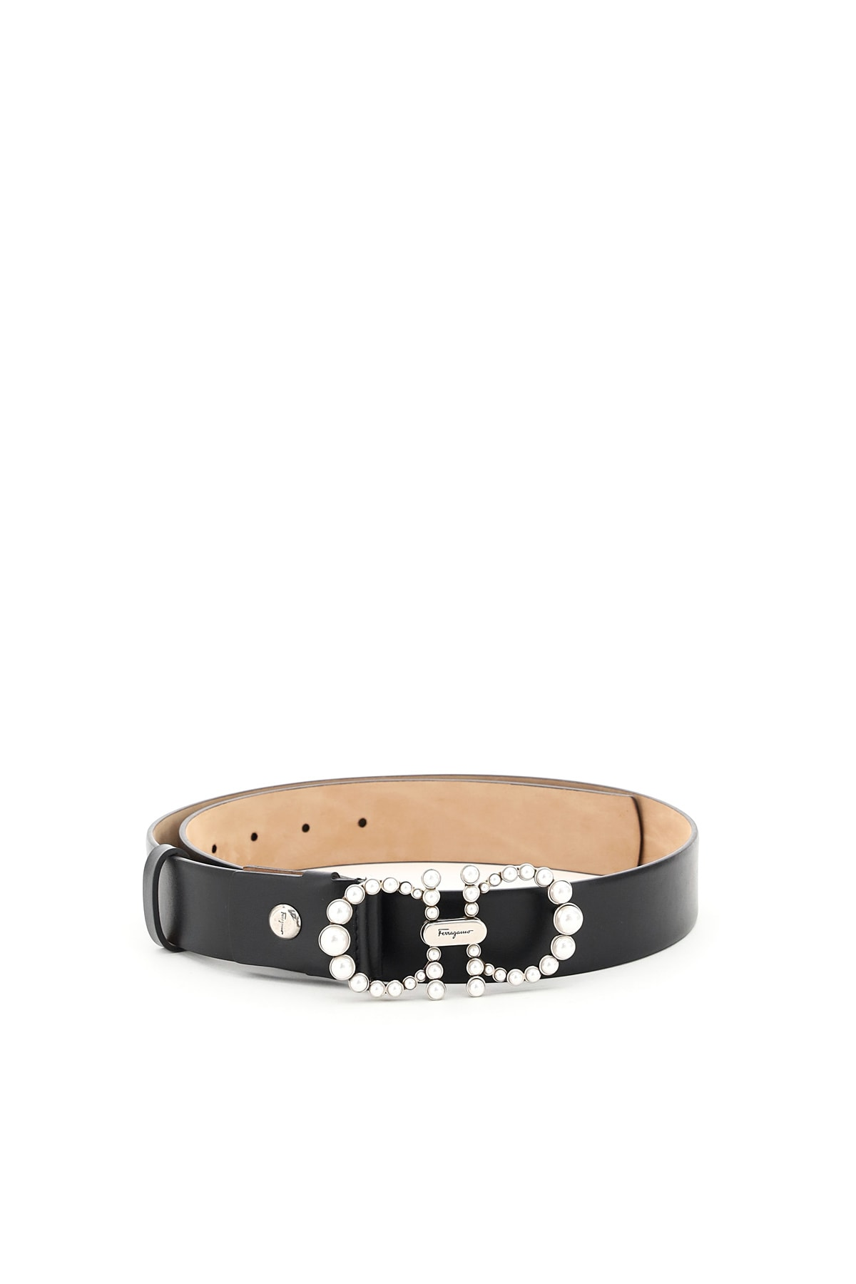 Salvatore Ferragamo GANCINI BELT PEARLS