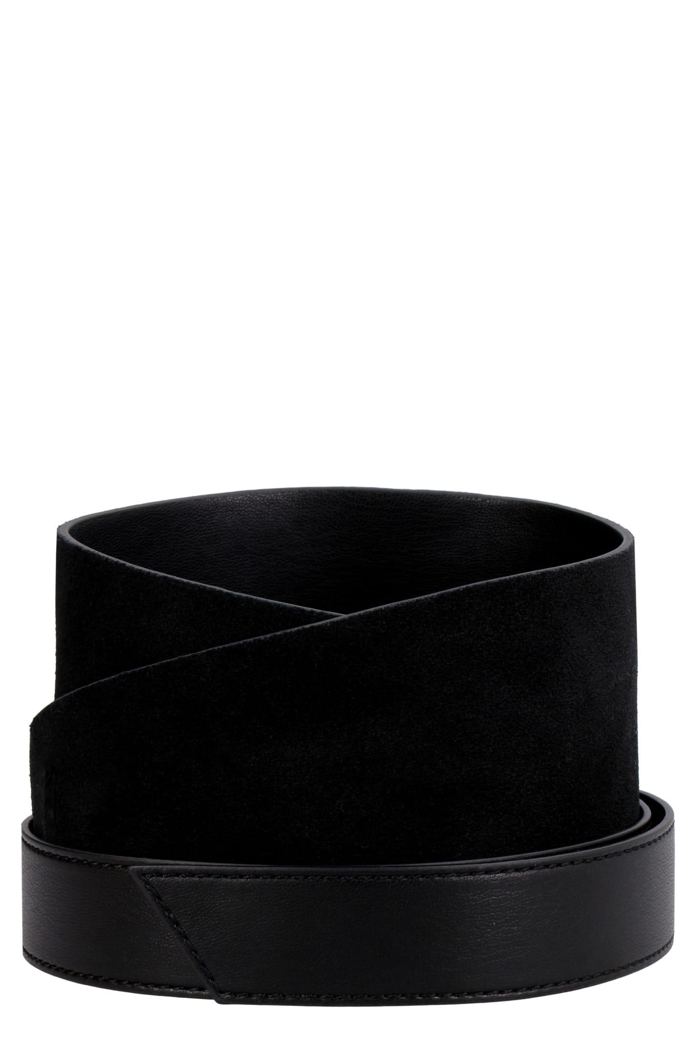 Pinko Taylor Leather Obi-belt In Black