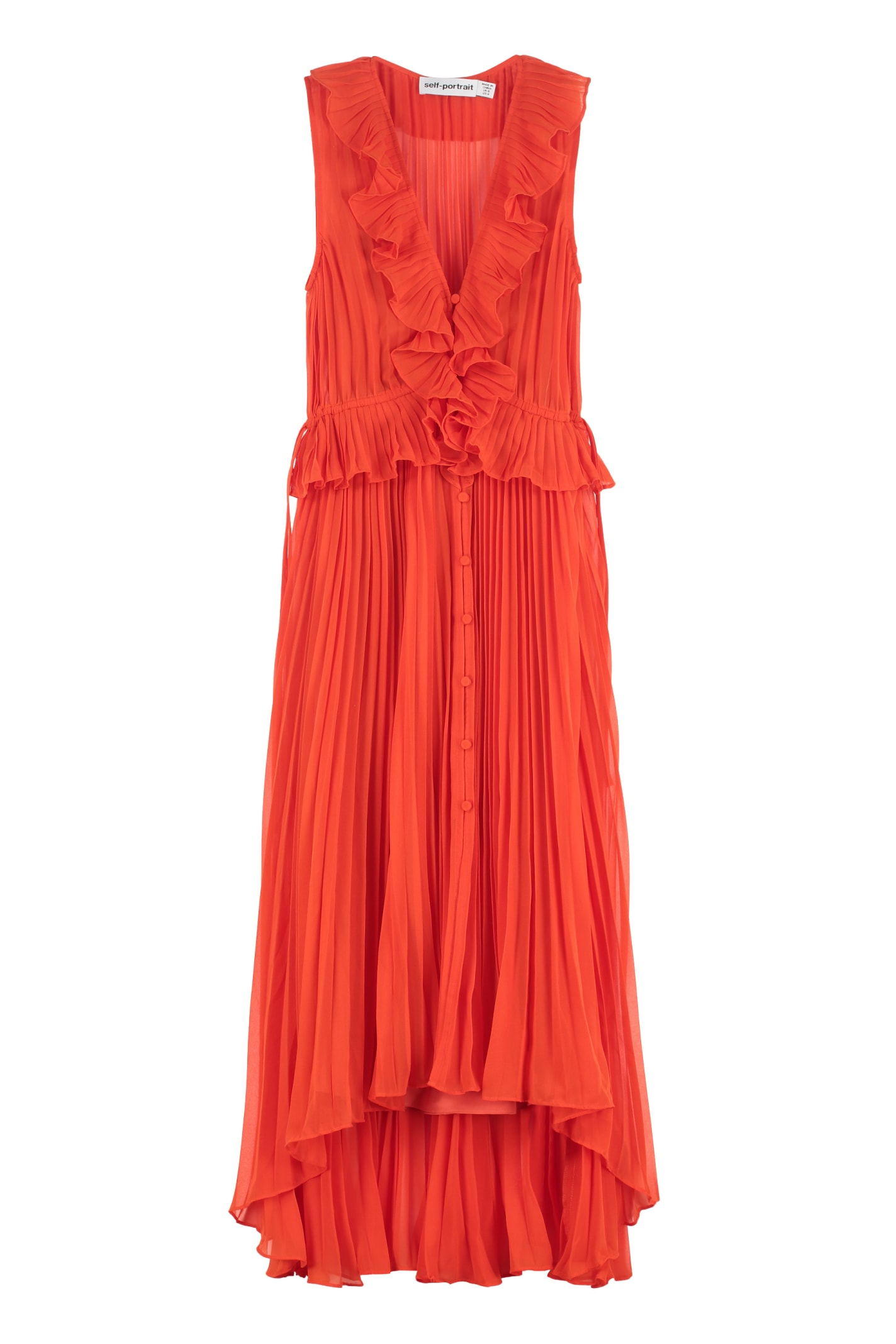 Buy self-portrait Pleated Midi Dress online, shop self-portrait with free shipping
